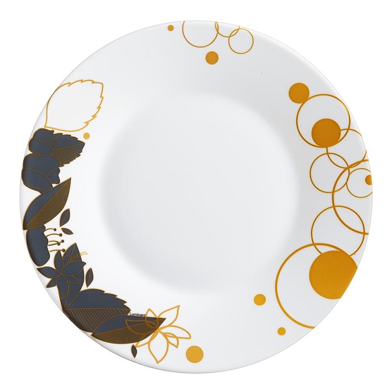 Assiette à dessert bleue et or D22cm