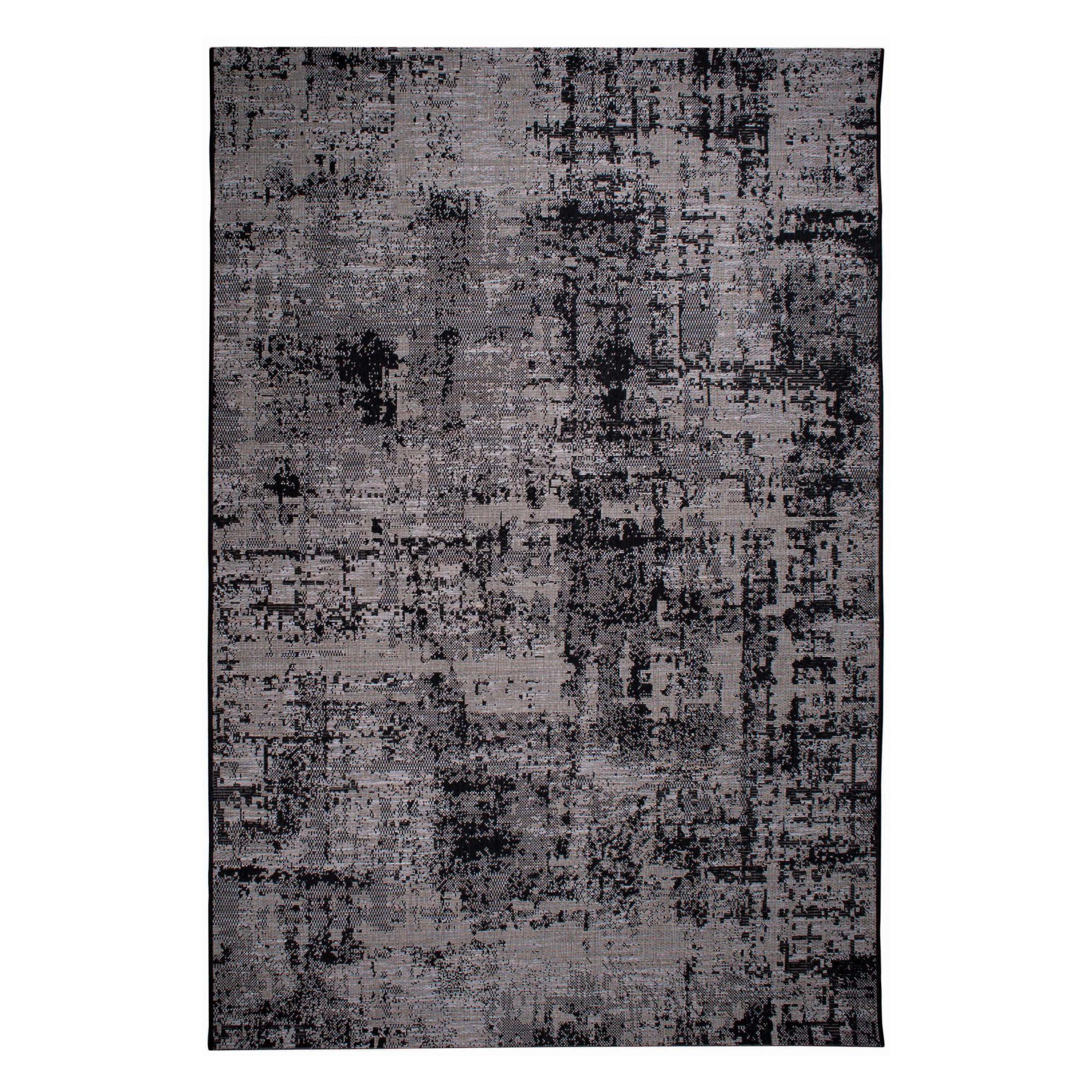 Tapis  en polypropylène noir 160 x 230