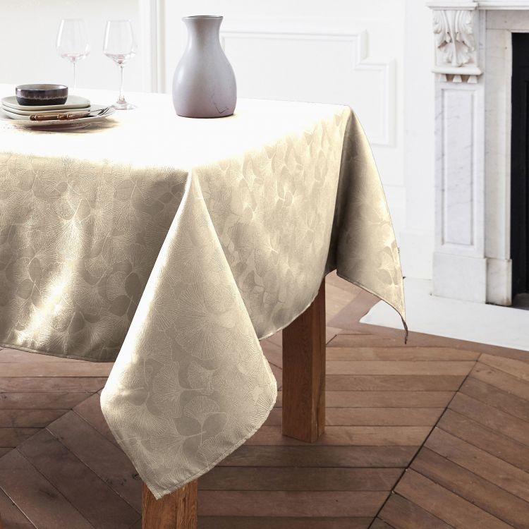 Nappe unie en polyester rose 160x160