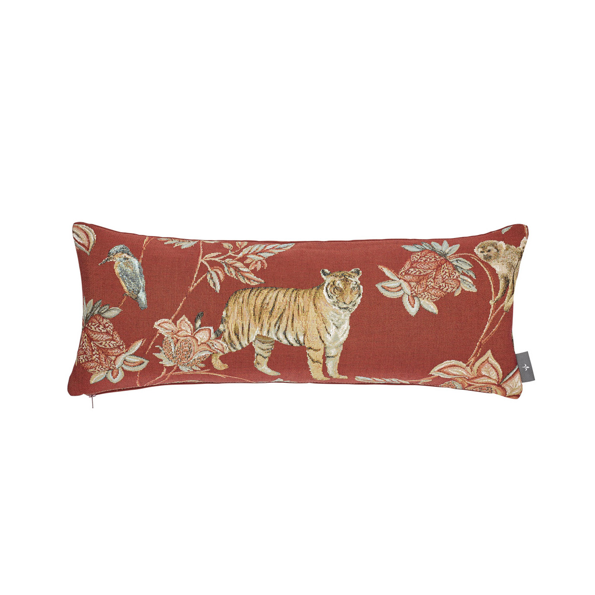 Coussin tapisserie indiennes made in france rouge 25x60