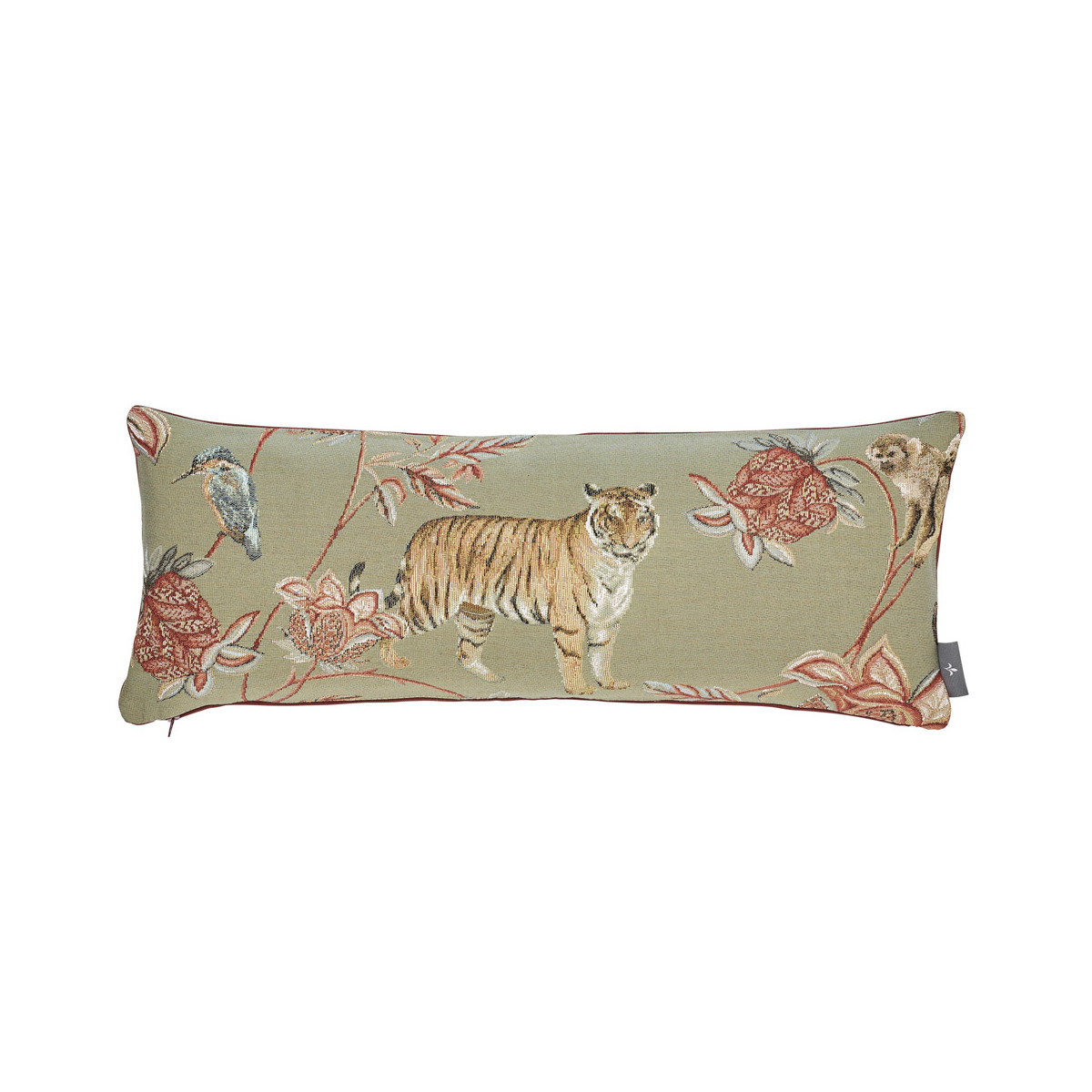 Coussin tapisserie indiennes made in france gris 25x60