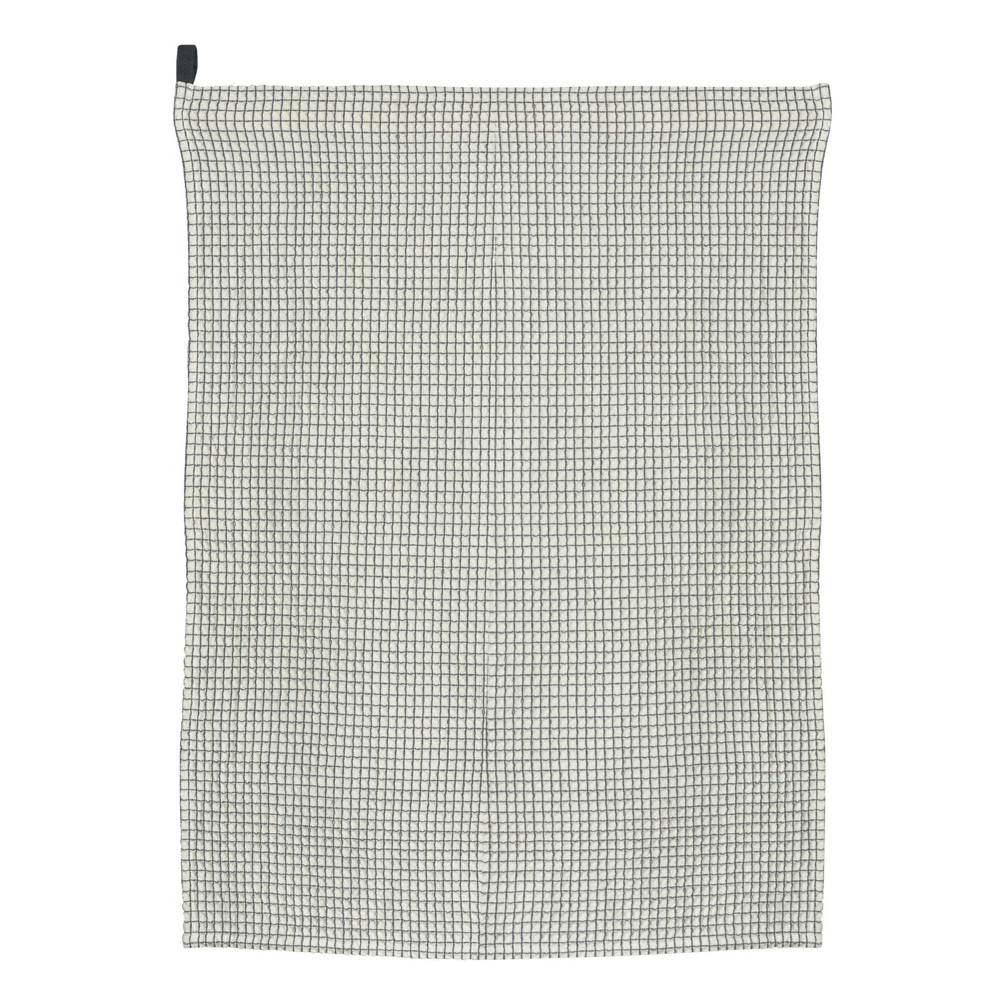 Torchon nid d'abeille  en coton ombre 50 x 70