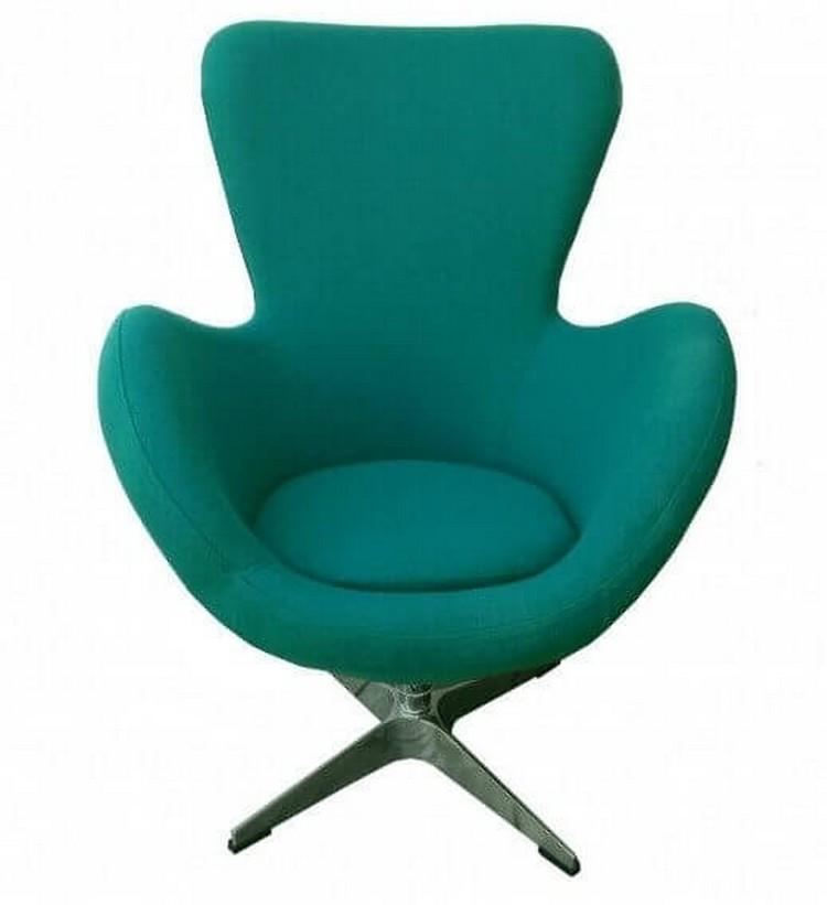 Fauteuil design turquoise