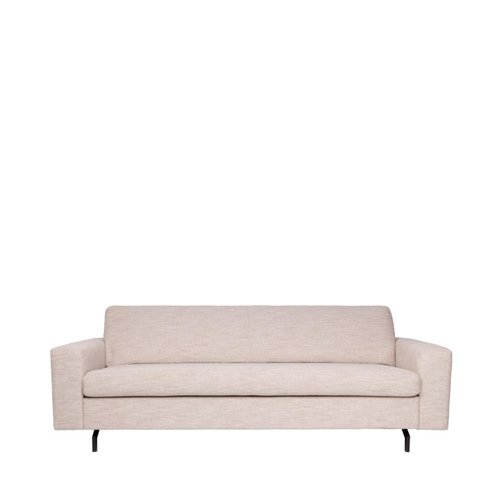 Canapé droit 3 places Beige Tissu Contemporain Confort
