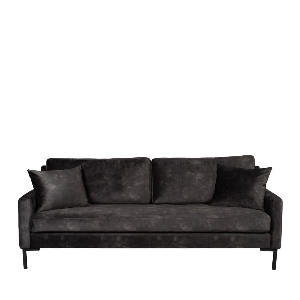 Canapé 3 places en tissu gris anthracite