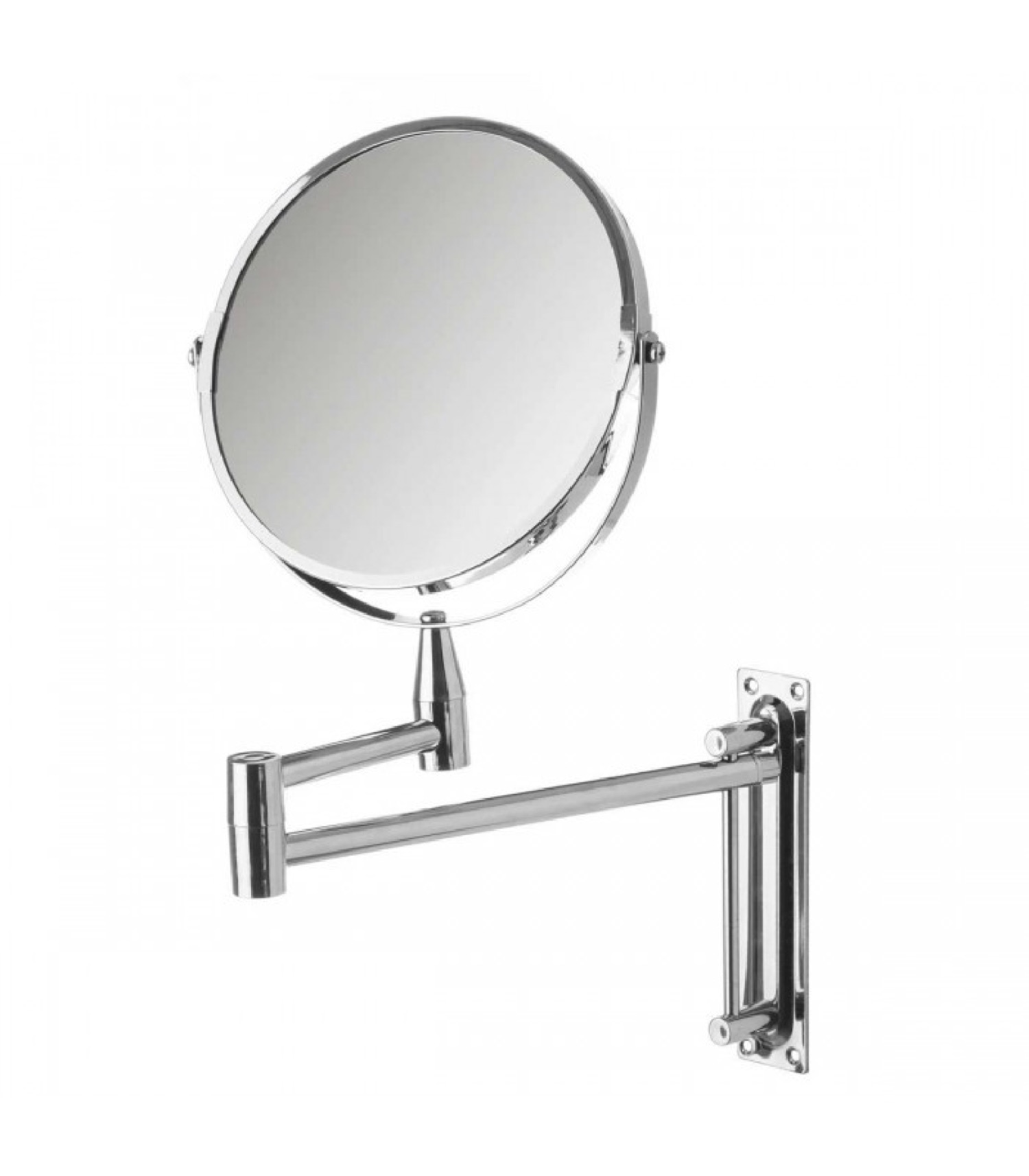 Miroir mural grossissant x2 sur bras extensible 39x3x36cm