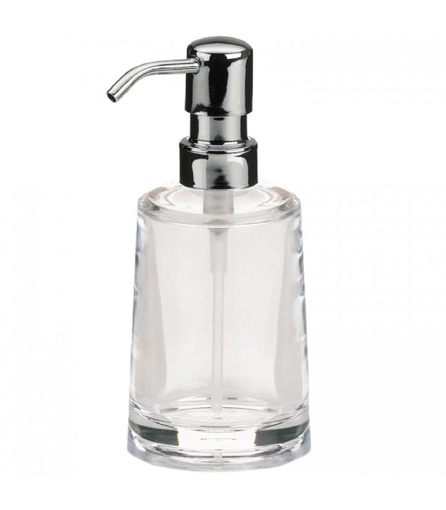 Distributeur de savon en acrylique transparent