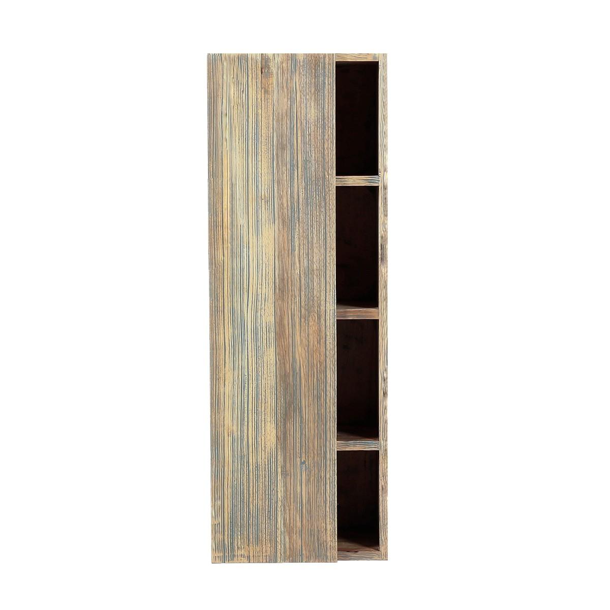 Colonne de salle de bain suspendue en bois d'hévéa 100 cm