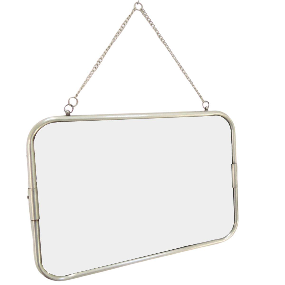 CHAUMONT - Miroir de barbier argent 29x39