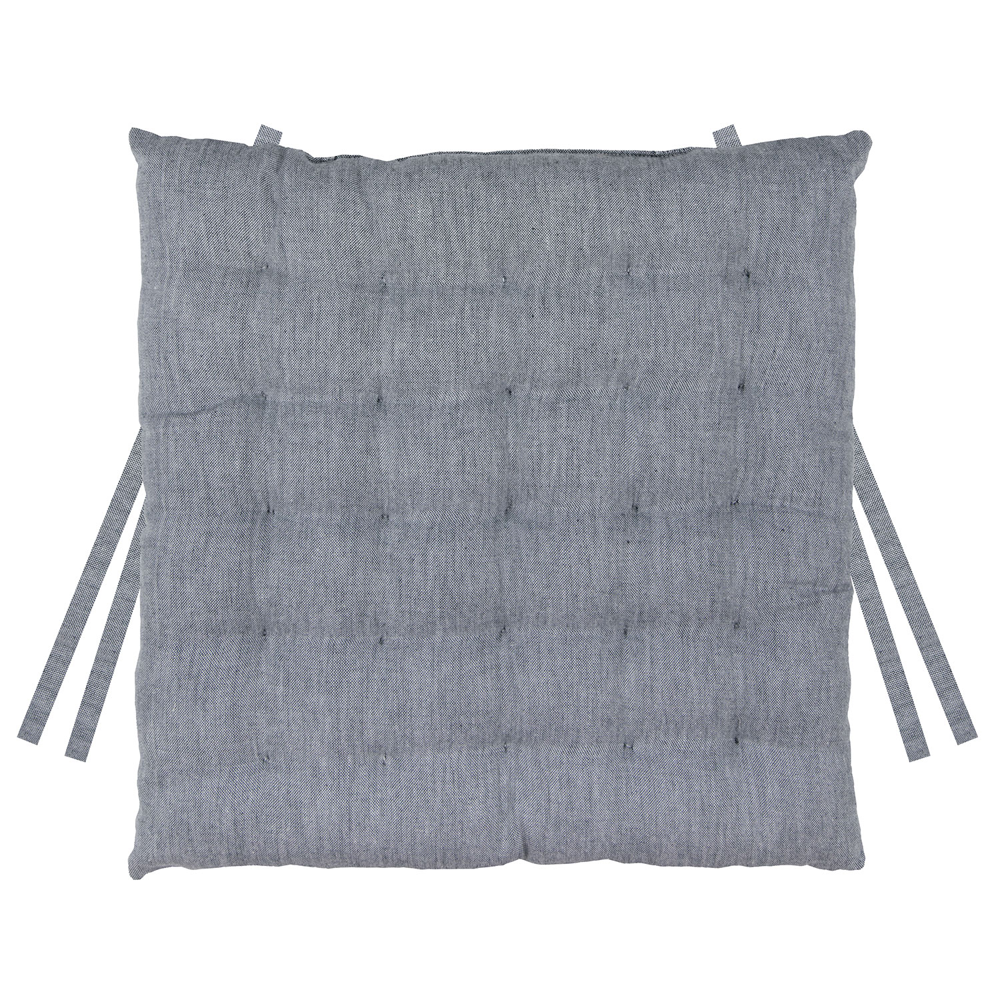 Galette de Chaise 25 points  en coton ombre 40 x 40 x 5