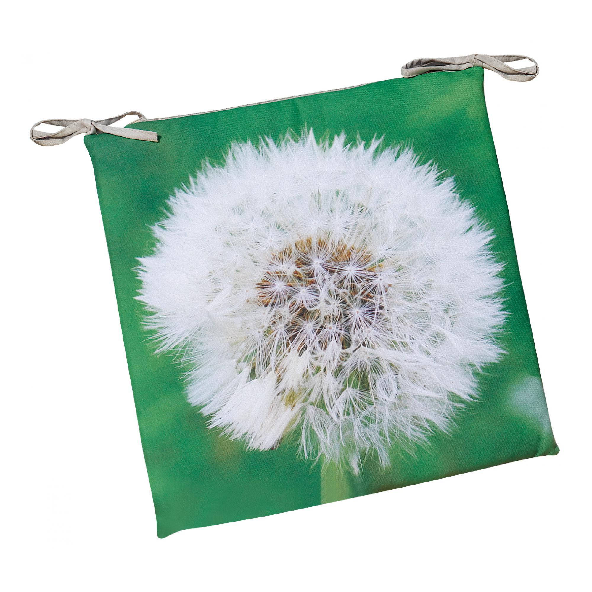 Galette de chaise plate Imprimée Outdoor herbe 38 x 38 x 2