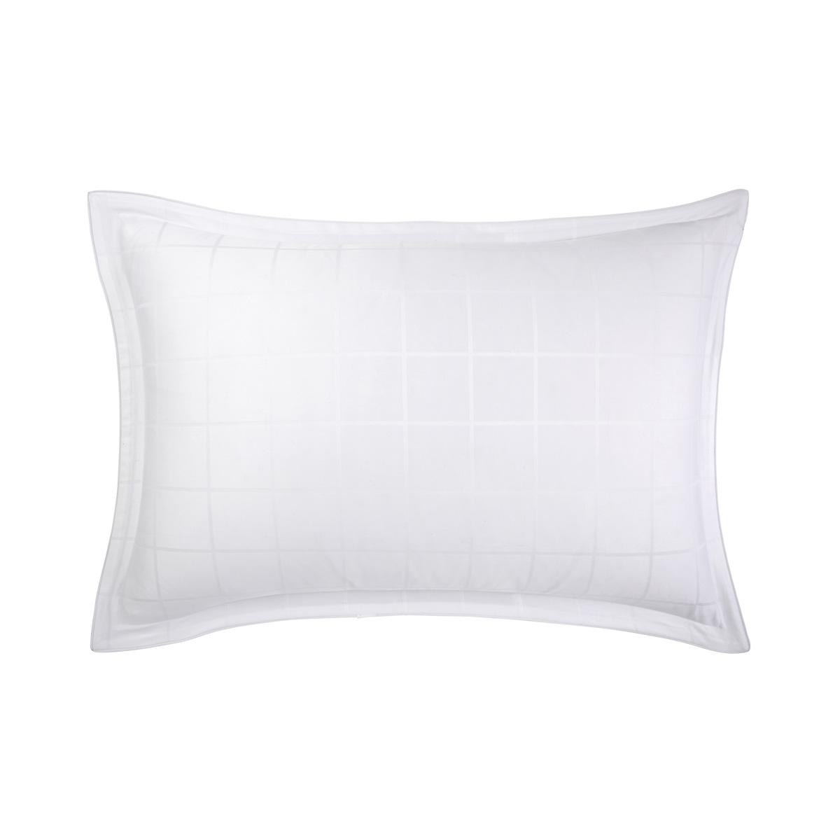 Taie d'oreiller satin Blanc 50 x 75 cm
