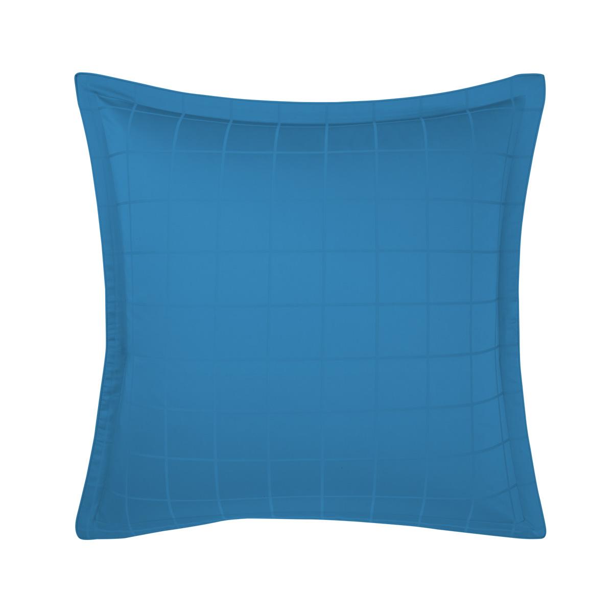Taie d'oreiller satin Bleu 65 x 65 cm
