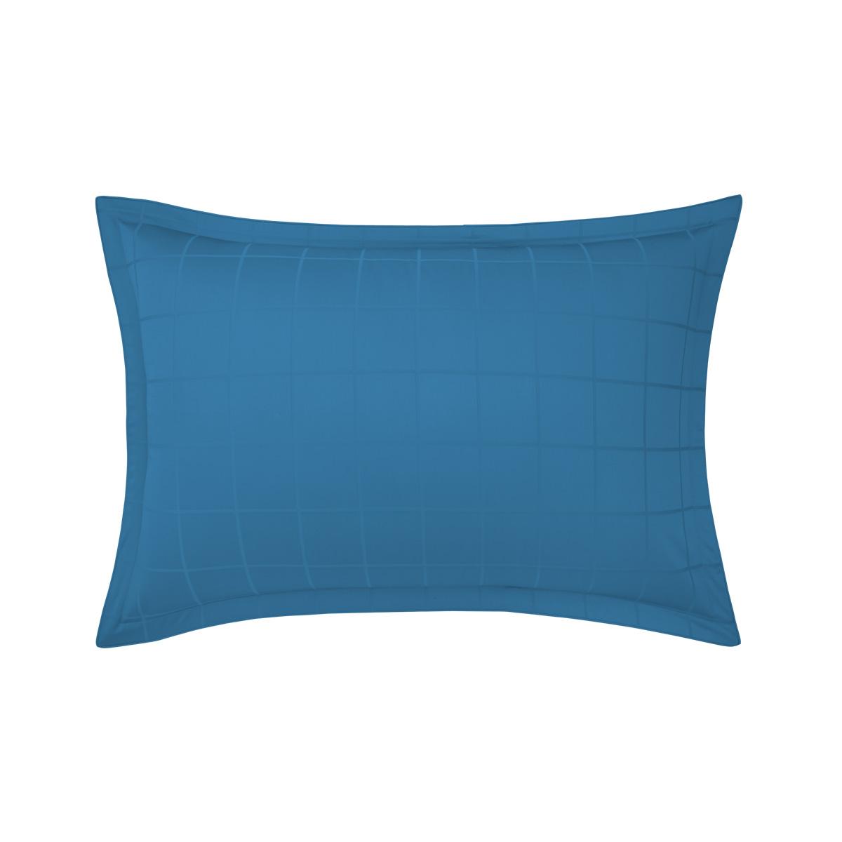 Taie d'oreiller satin Bleu 50 x 75 cm