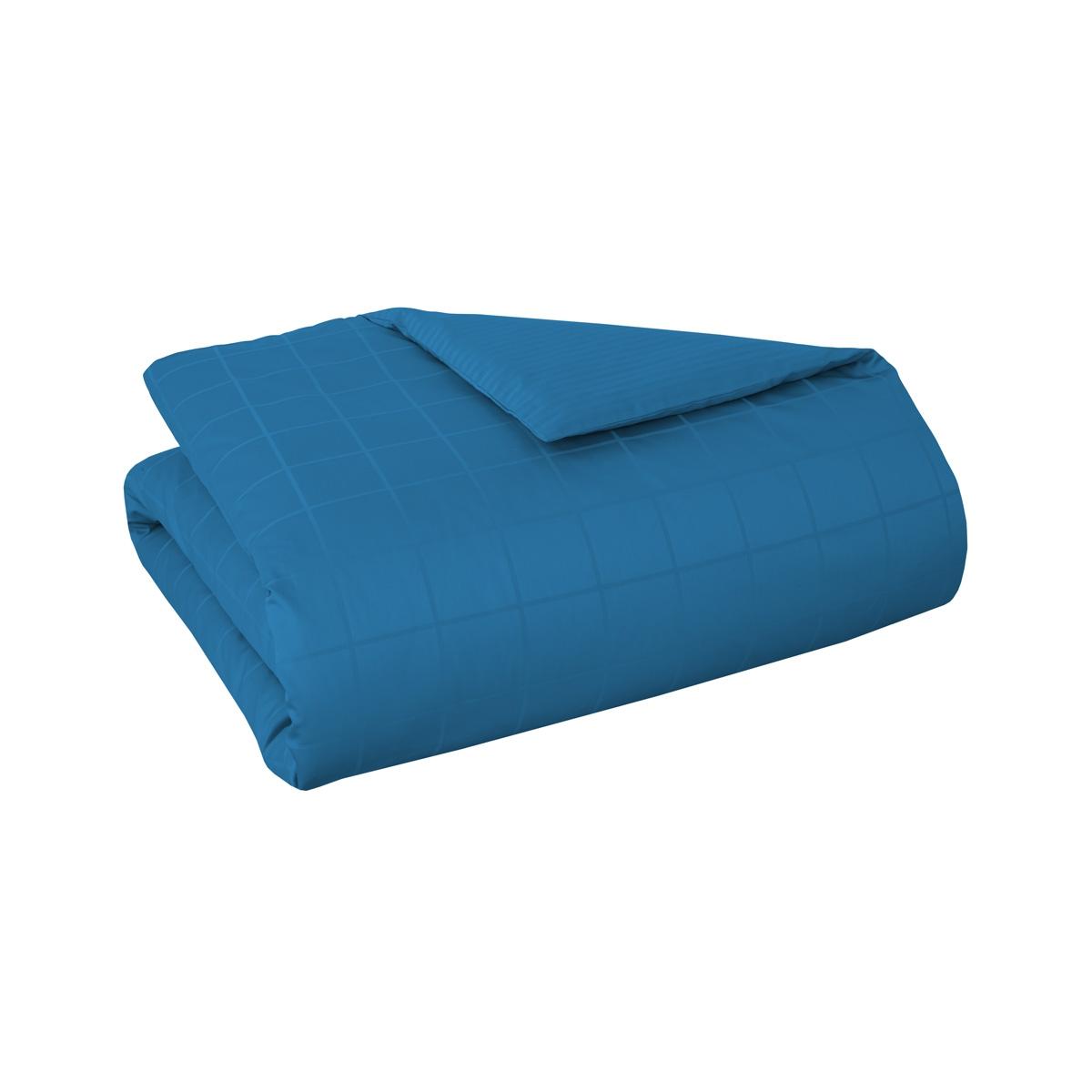 Housse de couette satin Bleu 240 x 220 cm