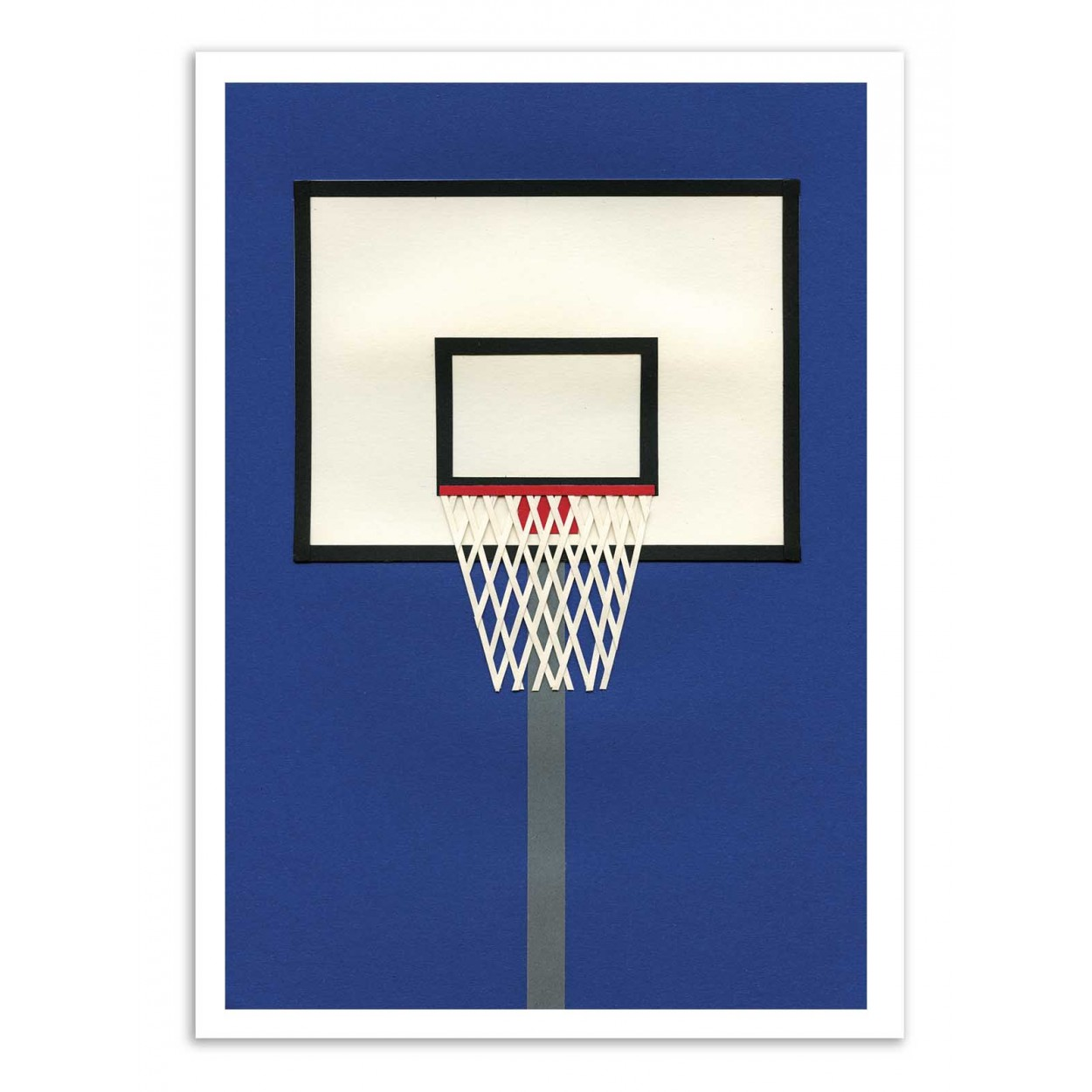 OAKLAND BASKETBALL TEAM -  Affiche d'art 50 x 70 cm