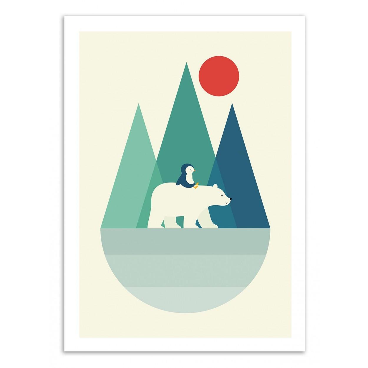 BEAR YOU -   Affiche d'art 50 x 70 cm