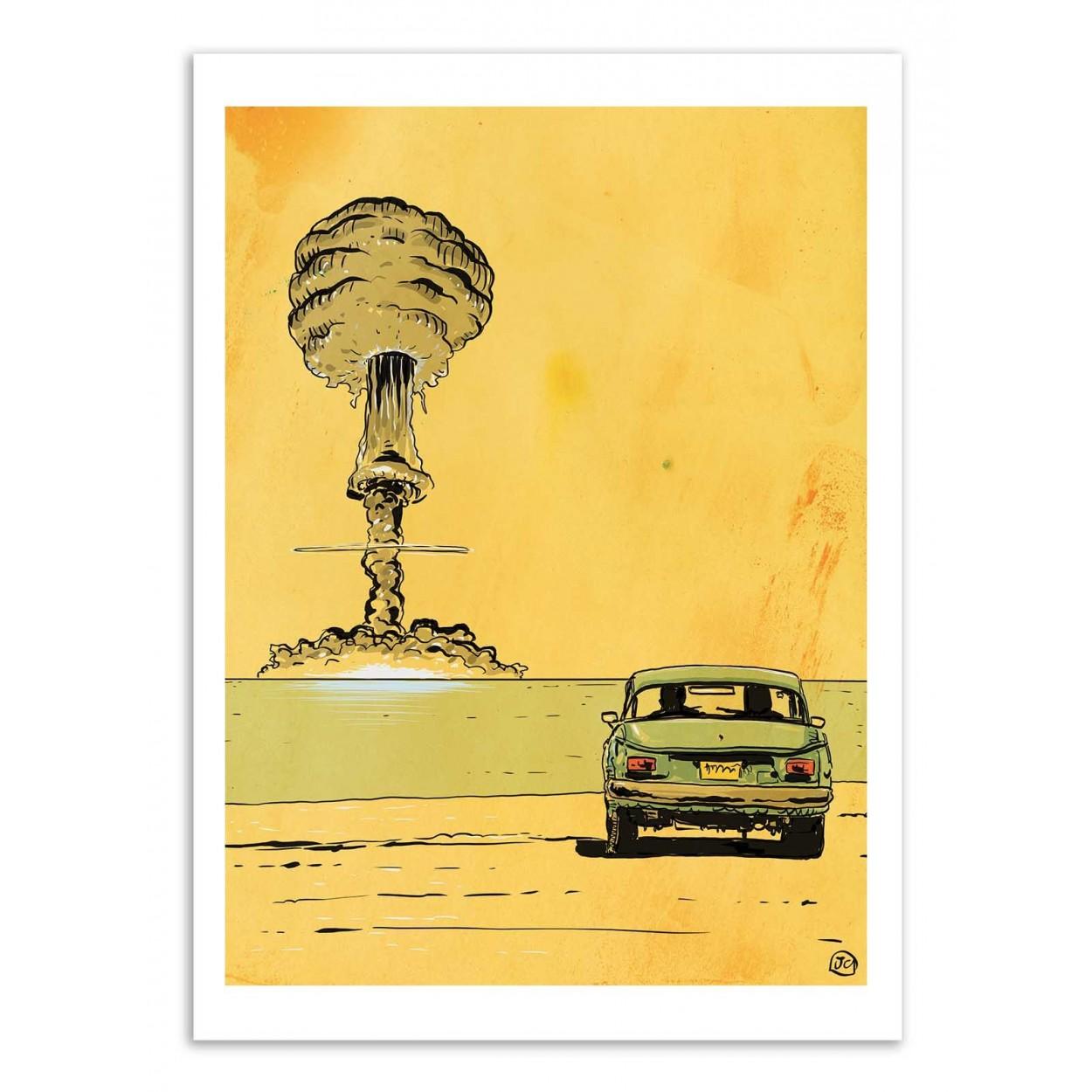 BOMB ROMANCE -  Affiche d'art 50 x 70 cm