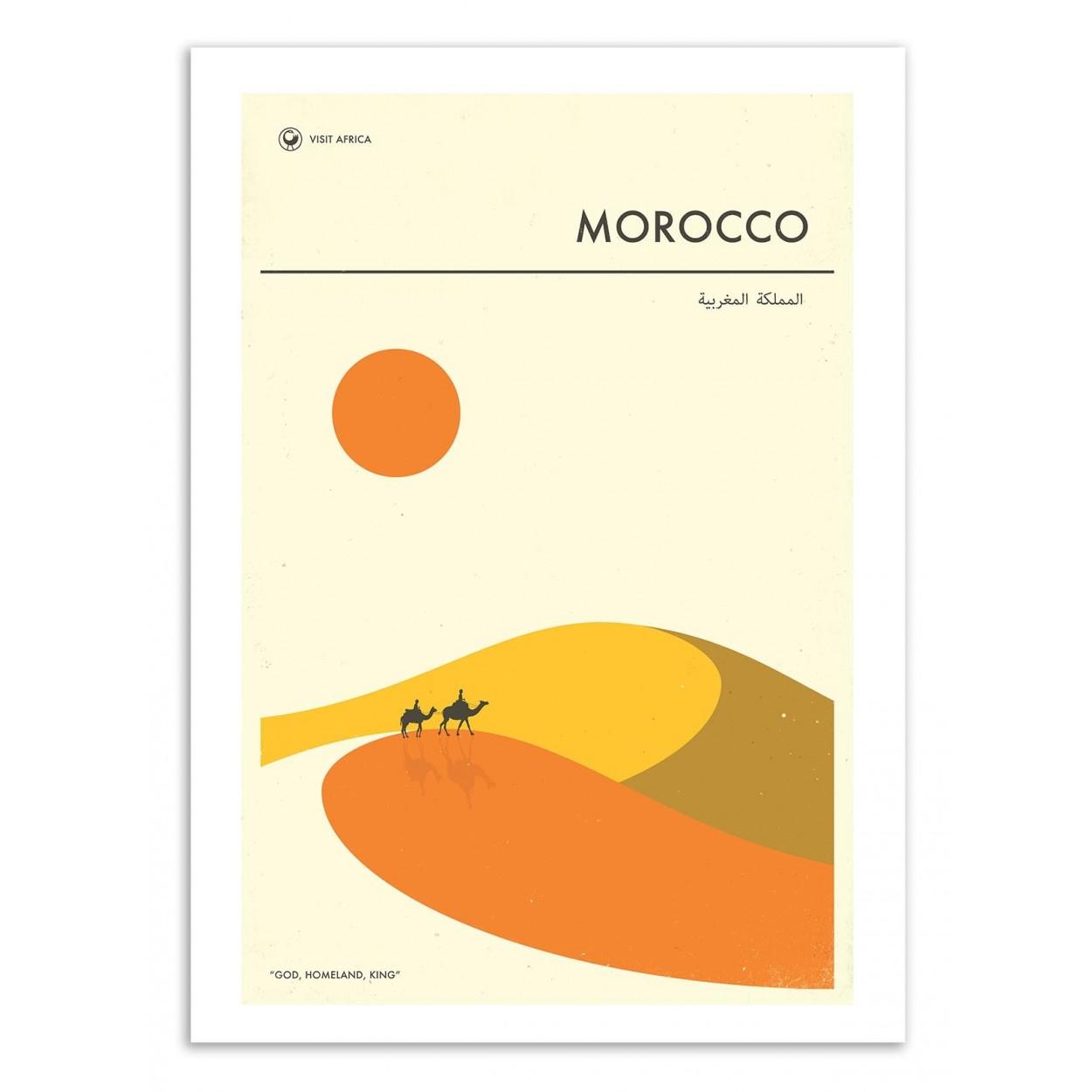 MOROCCO TRAVEL POSTER -  Affiche d'art 50 x 70 cm