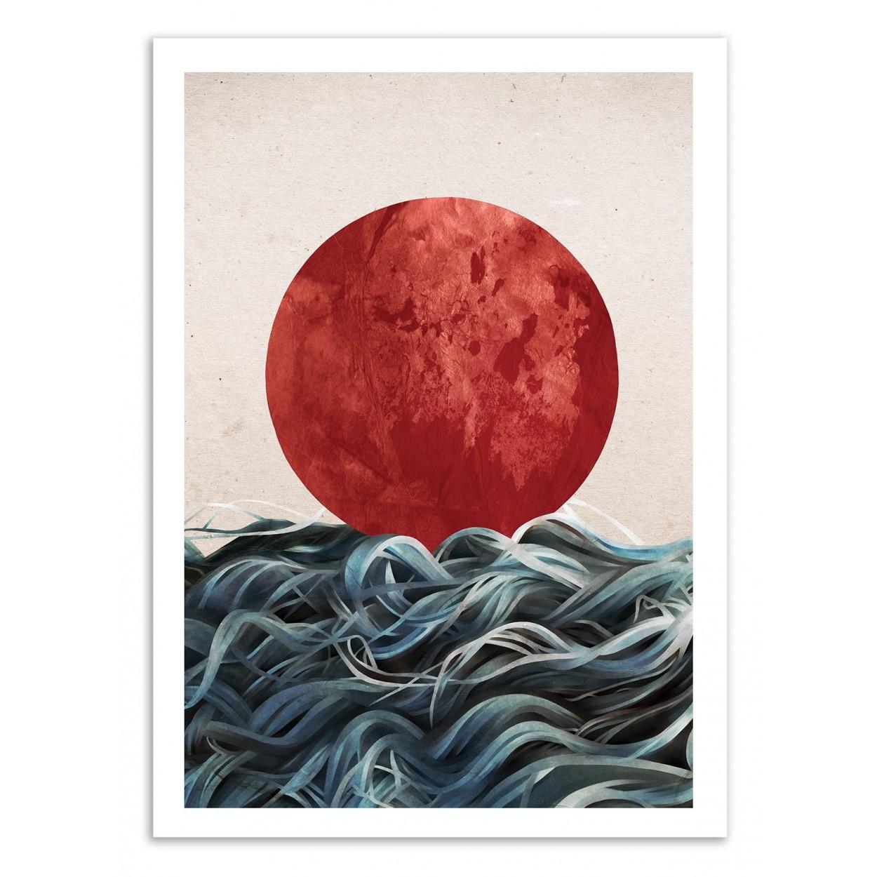 SUNRISE IN JAPAN - Affiche d'art 50 x 70 cm