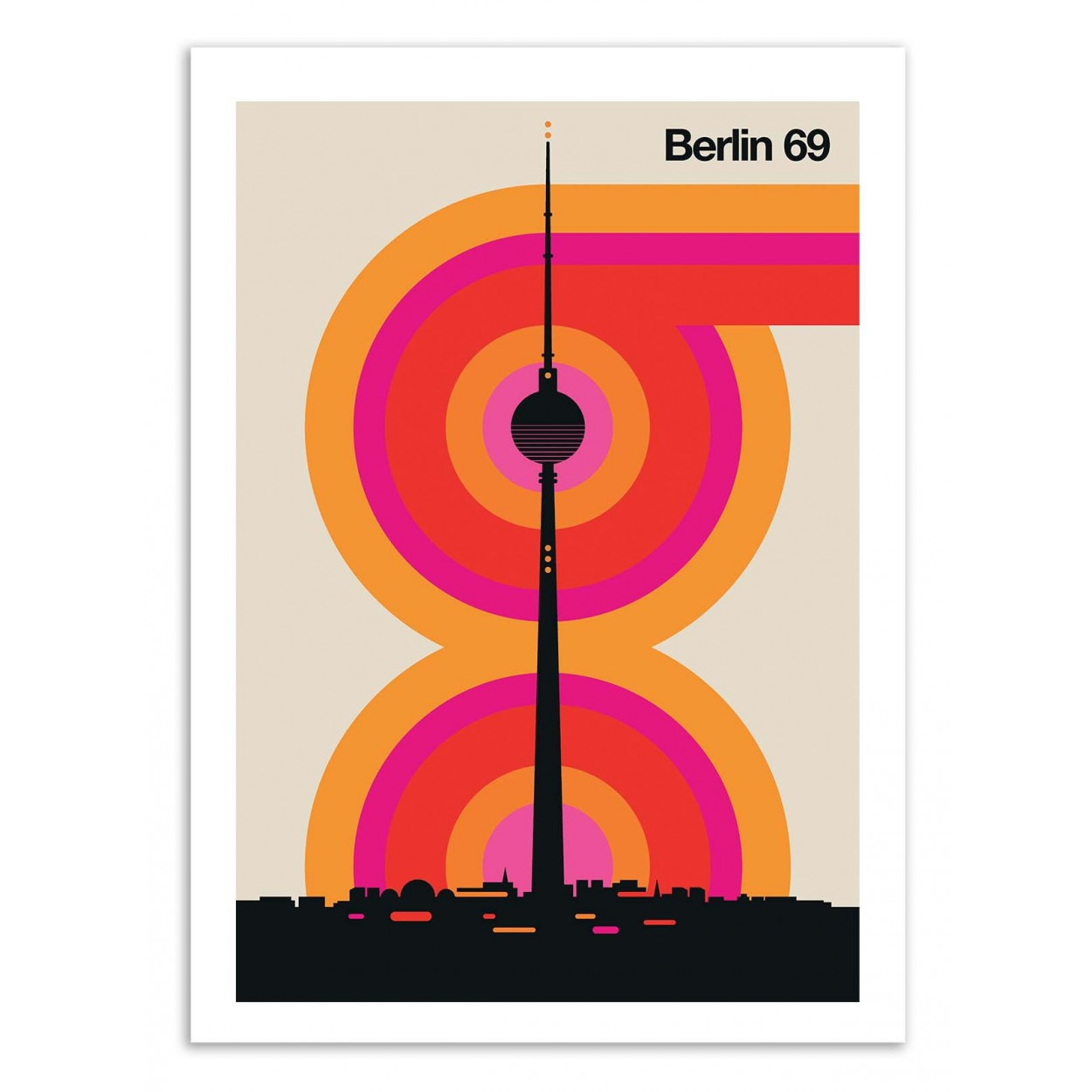 BERLIN 69 -  Affiche d'art 50 x 70 cm