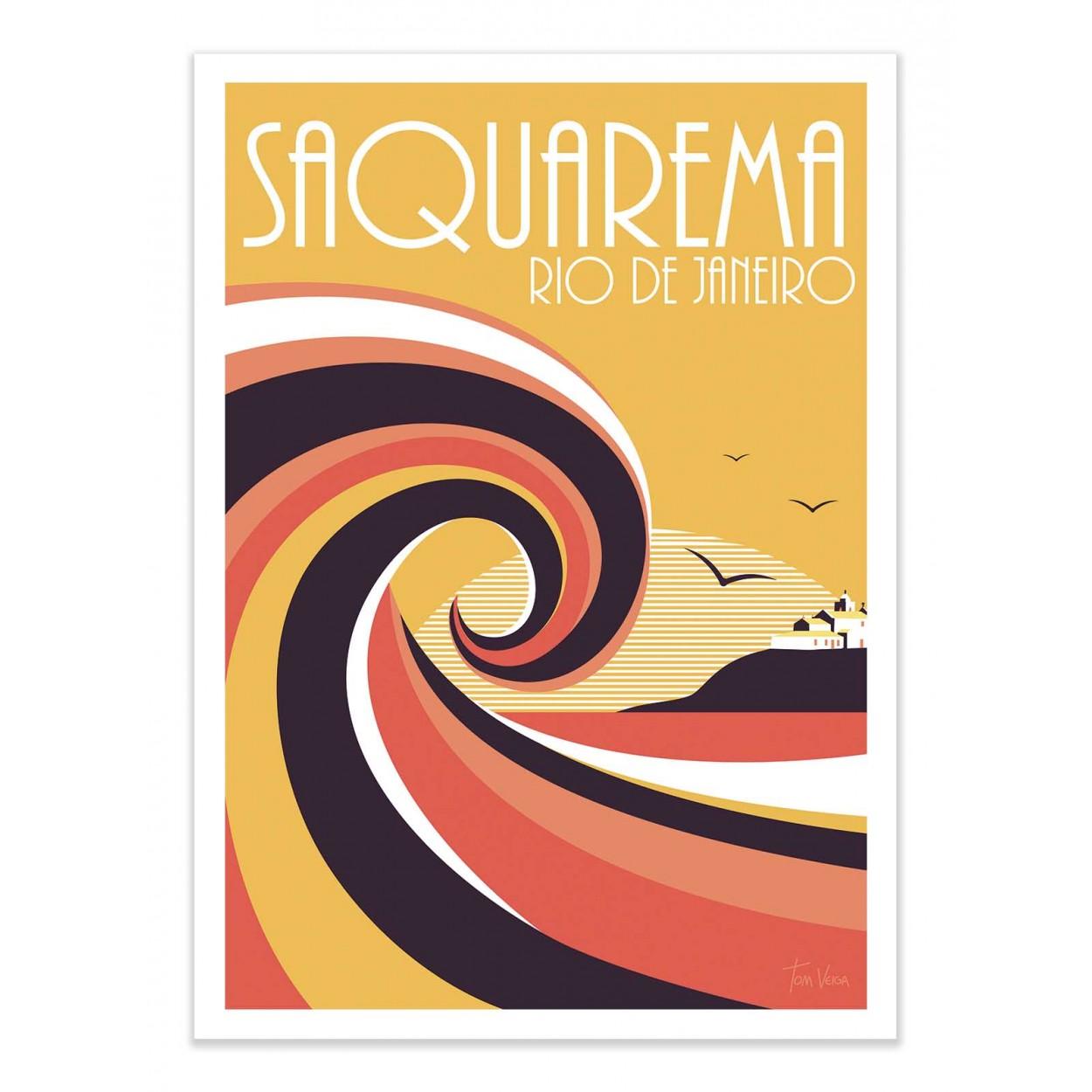 SAQUAREMO COLORS - Affiche d'art 50 x 70 cm