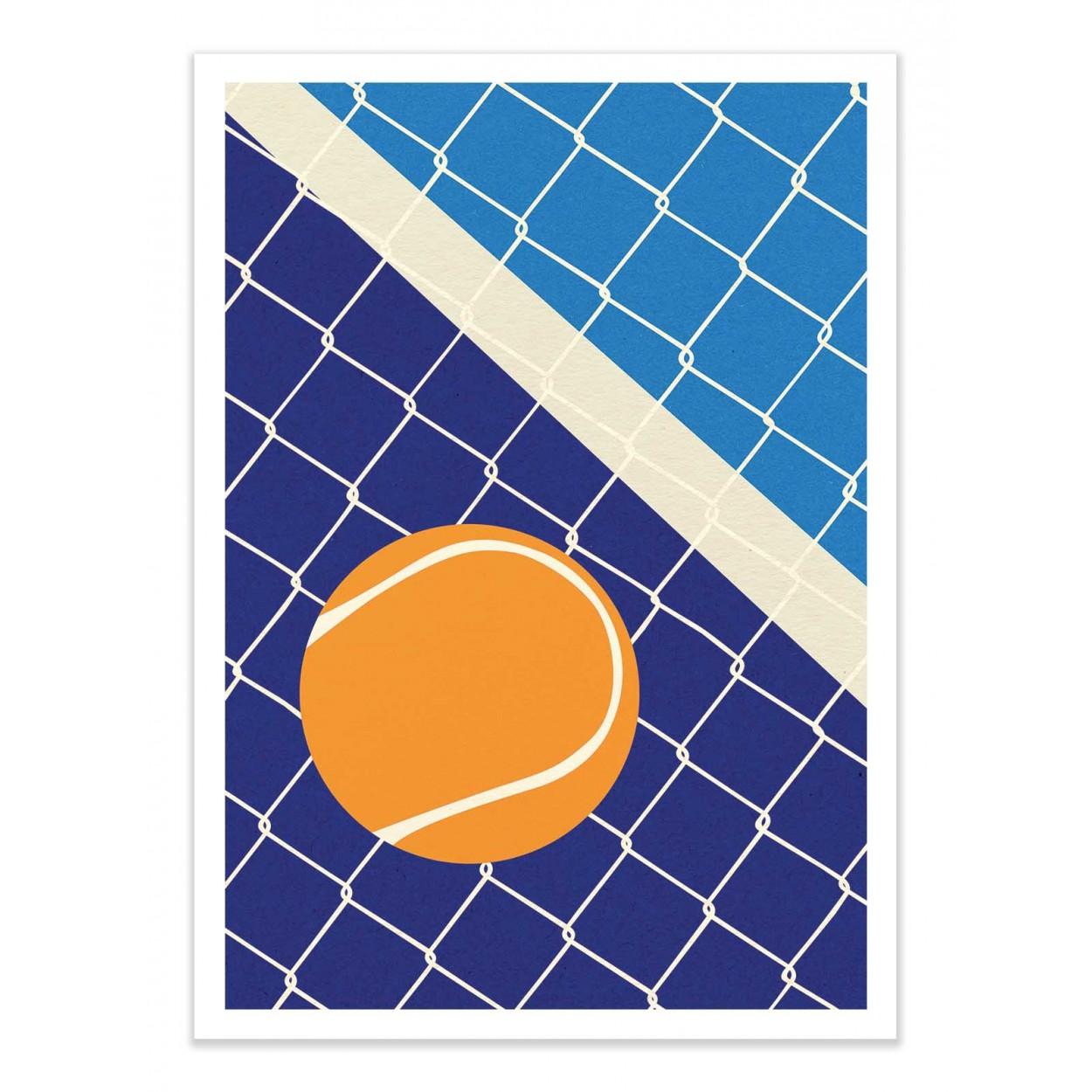 MATCHBALL -  Affiche d'art 50 x 70 cm
