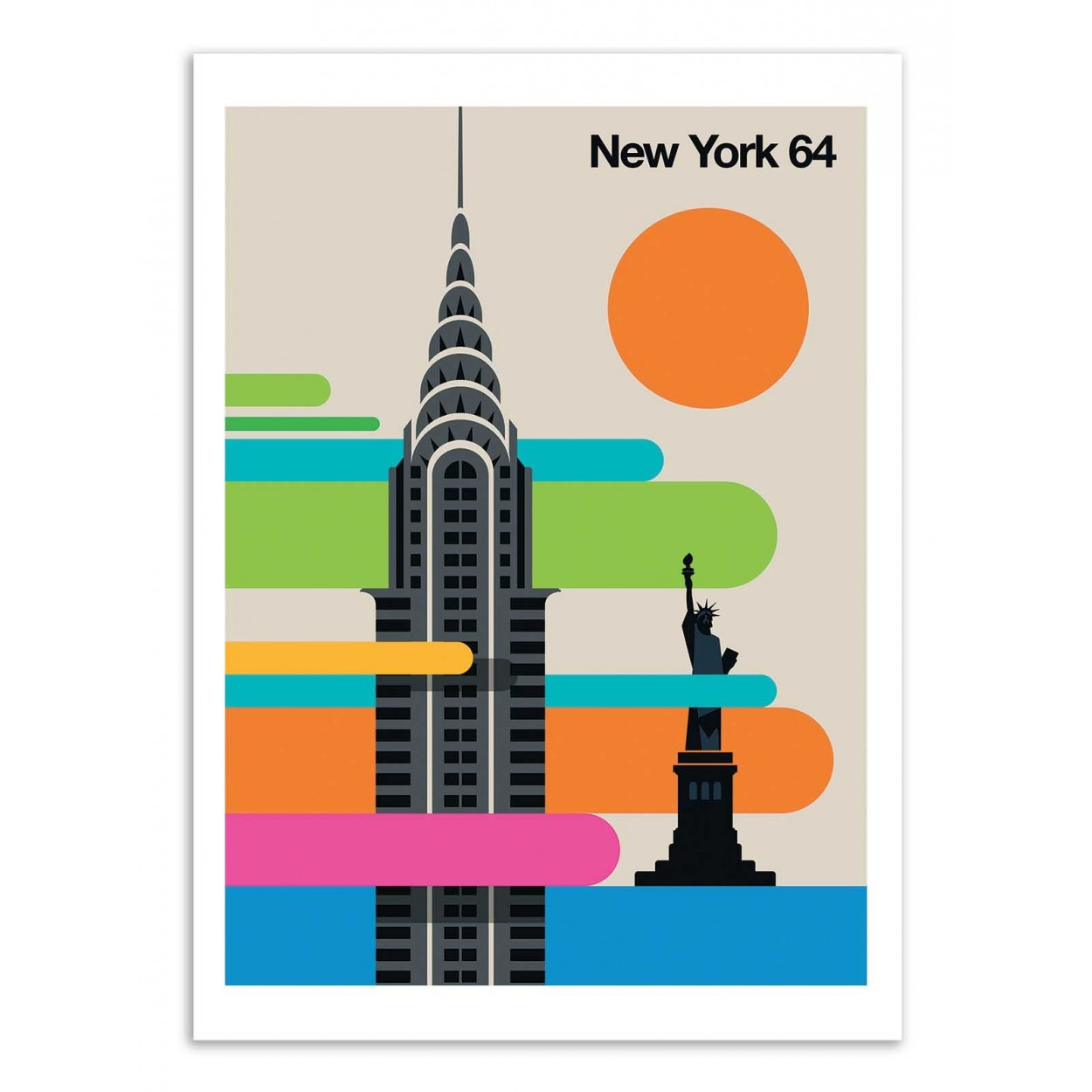NEW-YORK 64 -  Affiche d'art 50 x 70 cm