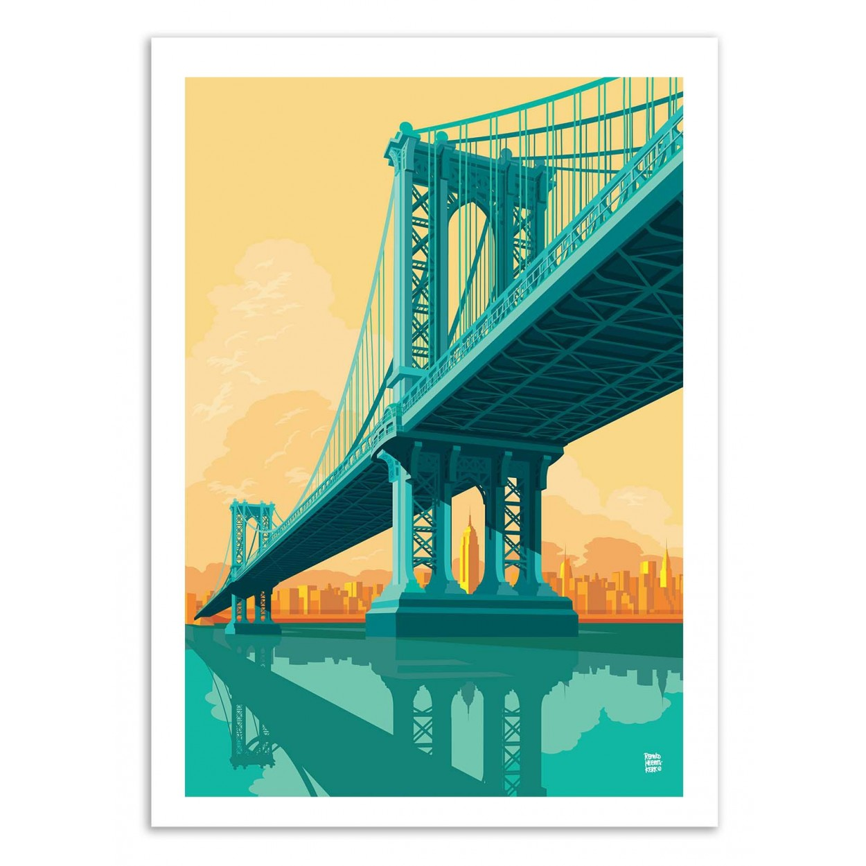 MANHATTAN BRIDGE -  Affiche d'art 50 x 70 cm