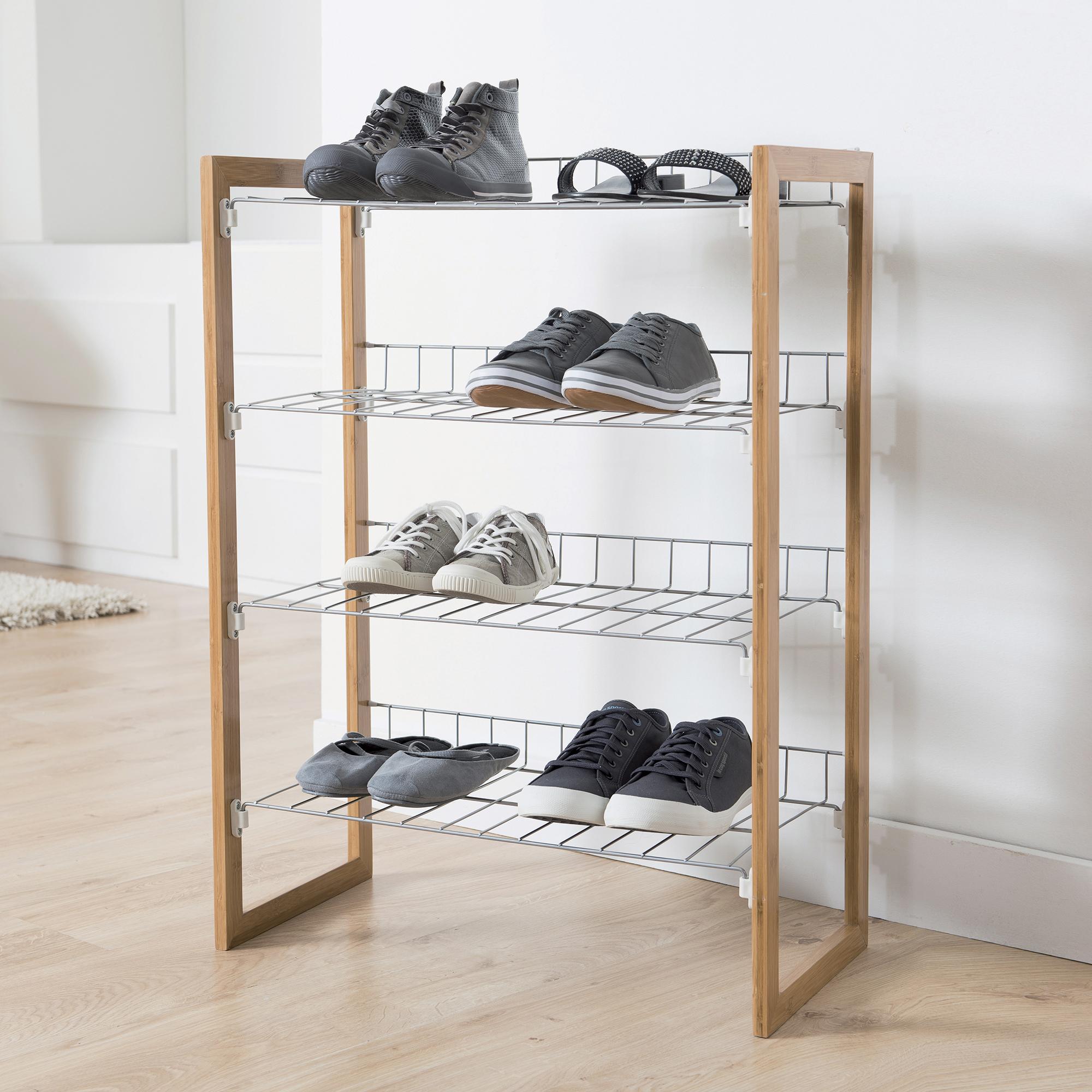 Étagère range-chaussures 12 paires H79,5cm (photo)