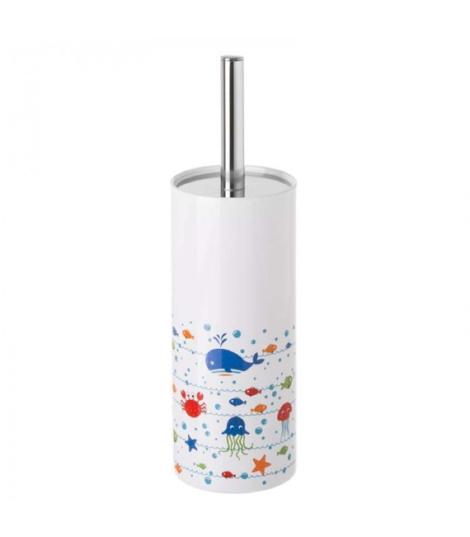 Brosse WC céramique multicolore