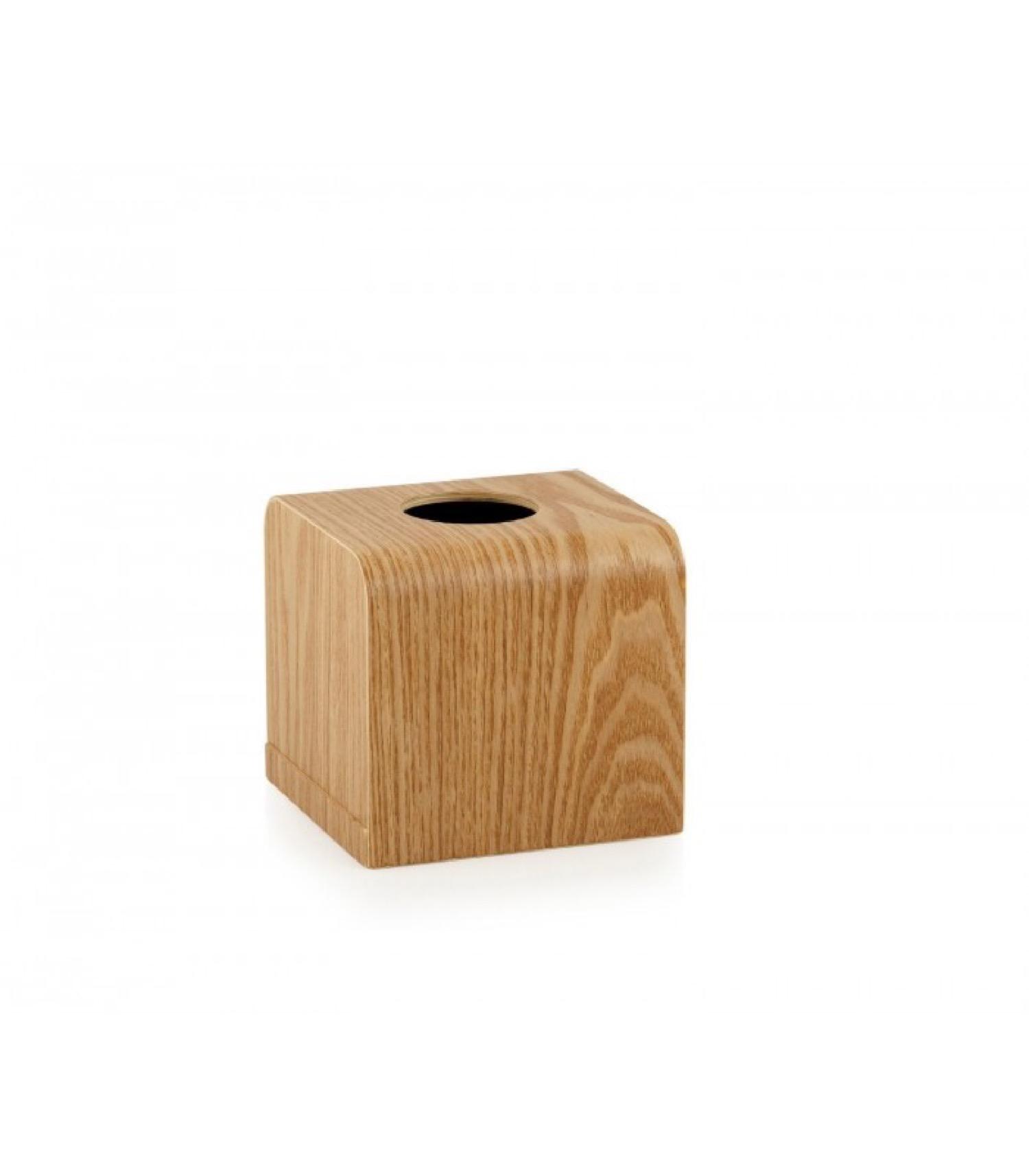 Boîte à mouchoirs carrée en bois de saule