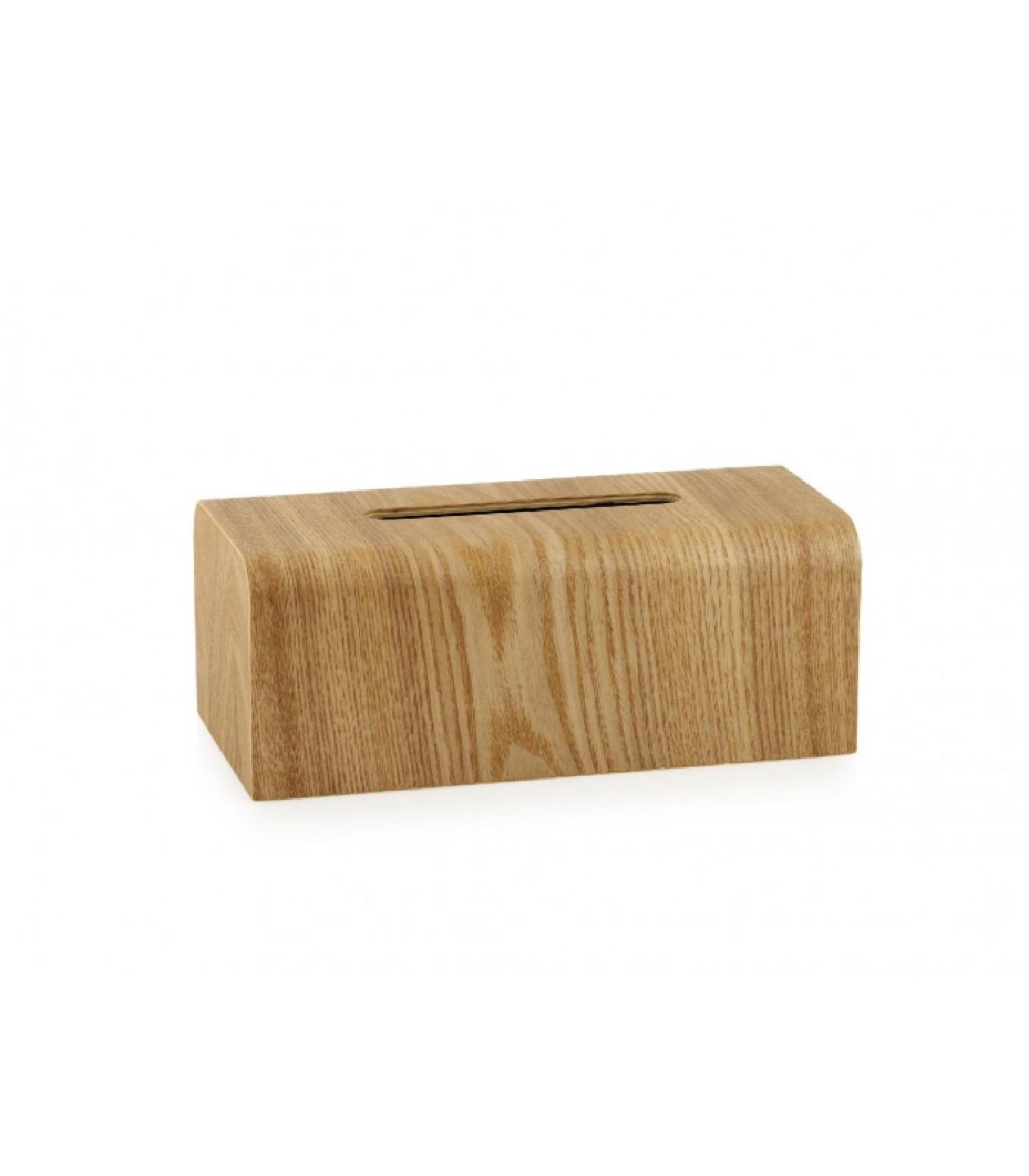 Boîte à mouchoir rectangulaire en bois de saule