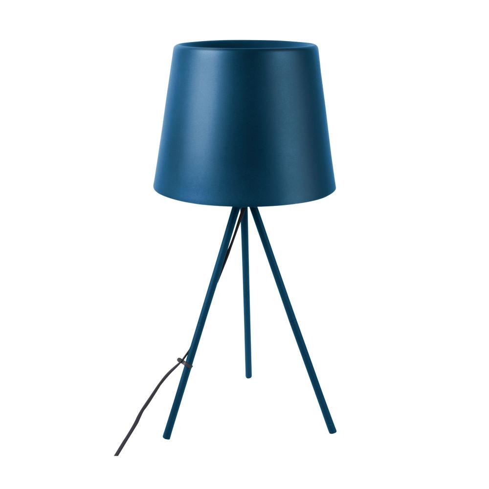 Lampe à poser en métal bleu