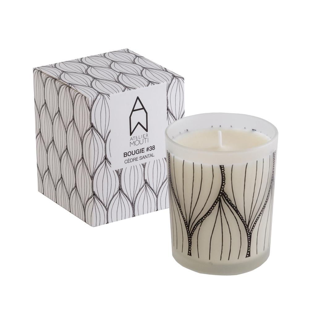 AMANDES - Bougie parfumée Cèdre Santal