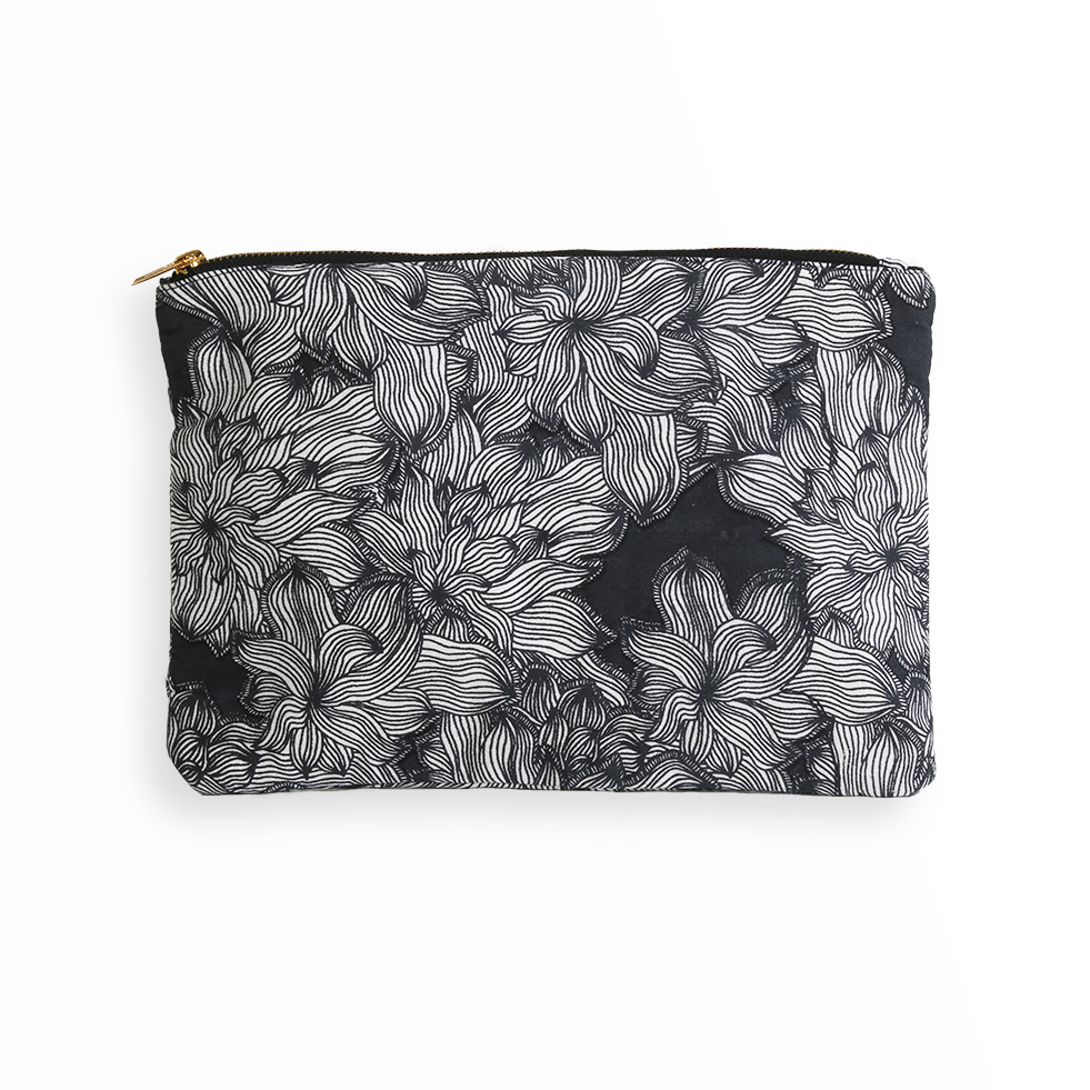 FLOWERS - Pochette en coton imprimé floral