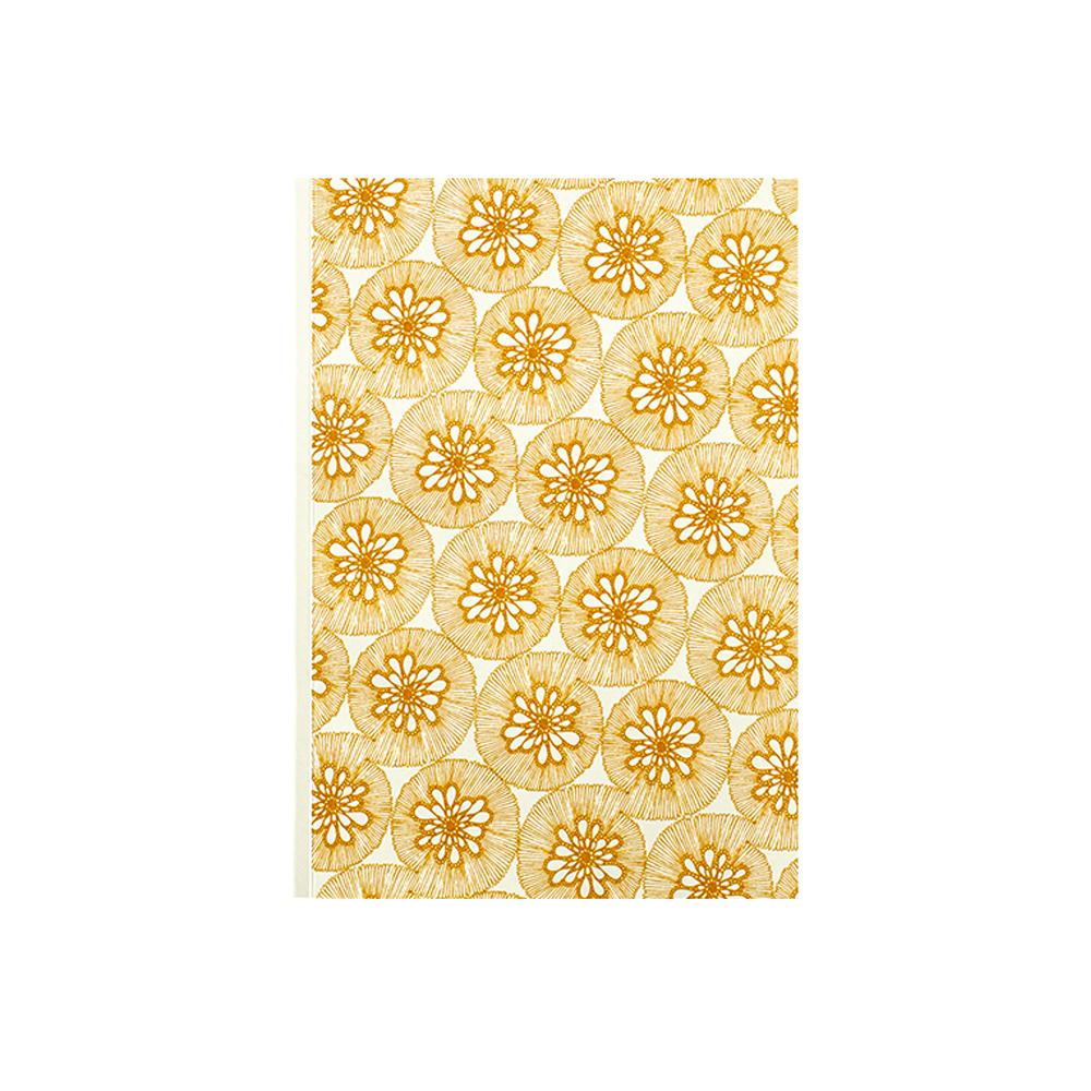 BIJOUX- Carnet à dessin imprimé abstrait jaune