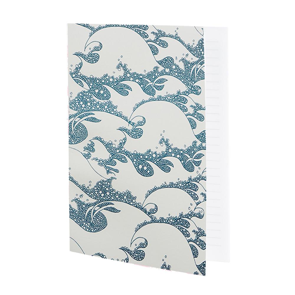 VAGUES - Cahier ligné bleu imprimé océan
