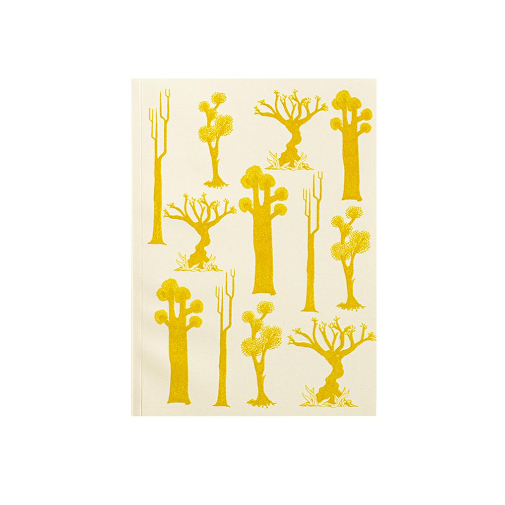 FORET - Carnet à dessin imprimé nature jaune