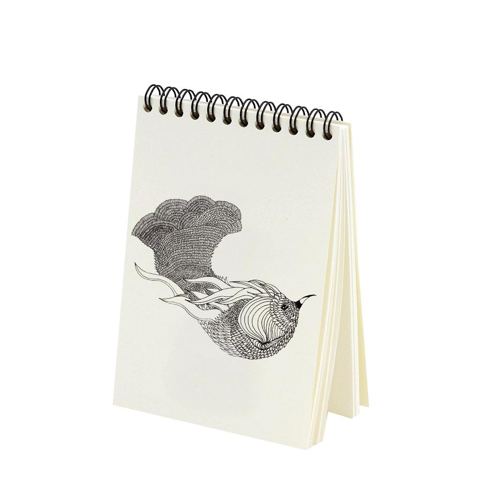 OISEAU DE PARADIS - Bloc-notes à spirales imprimé animal