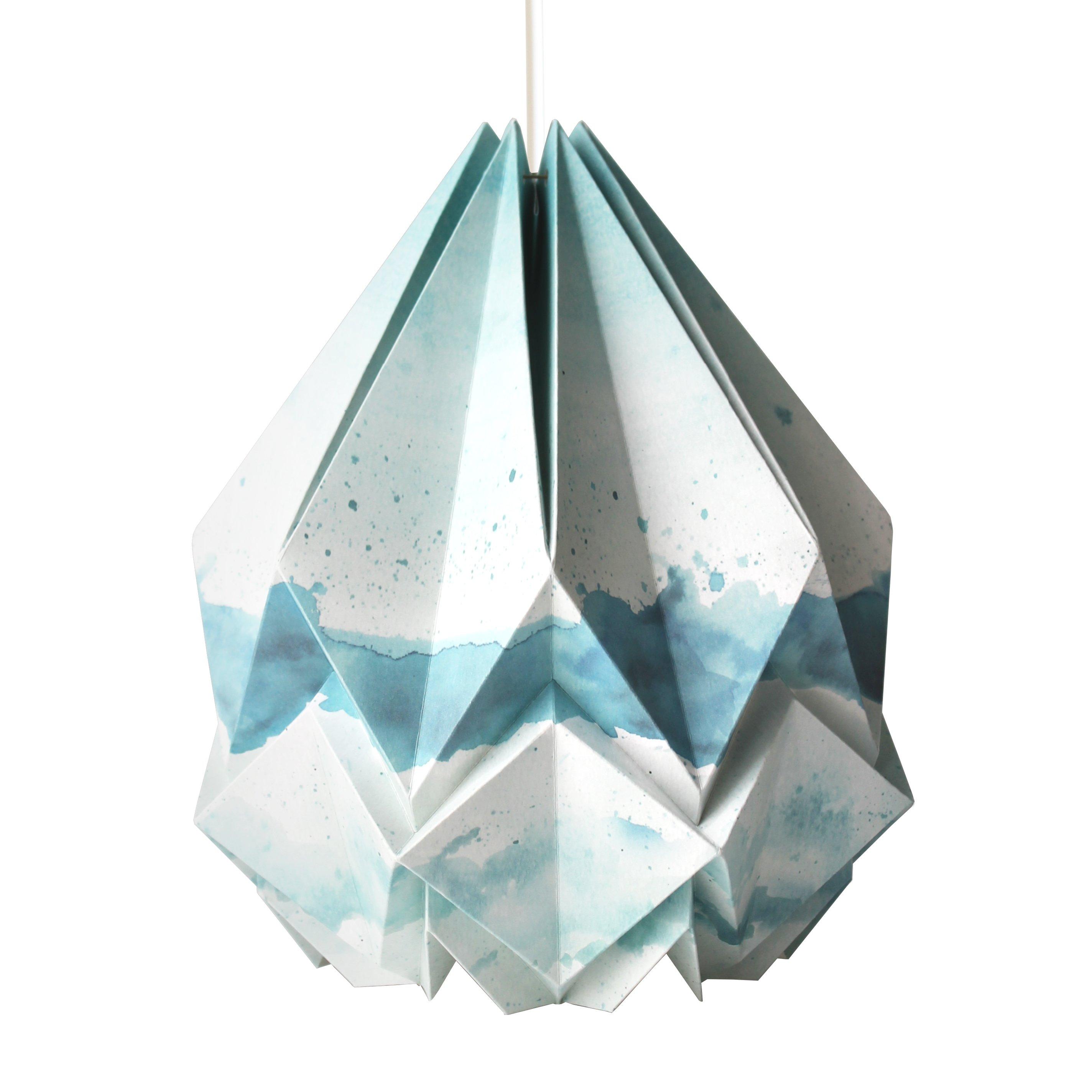 Suspension origami en papier motif été taille M