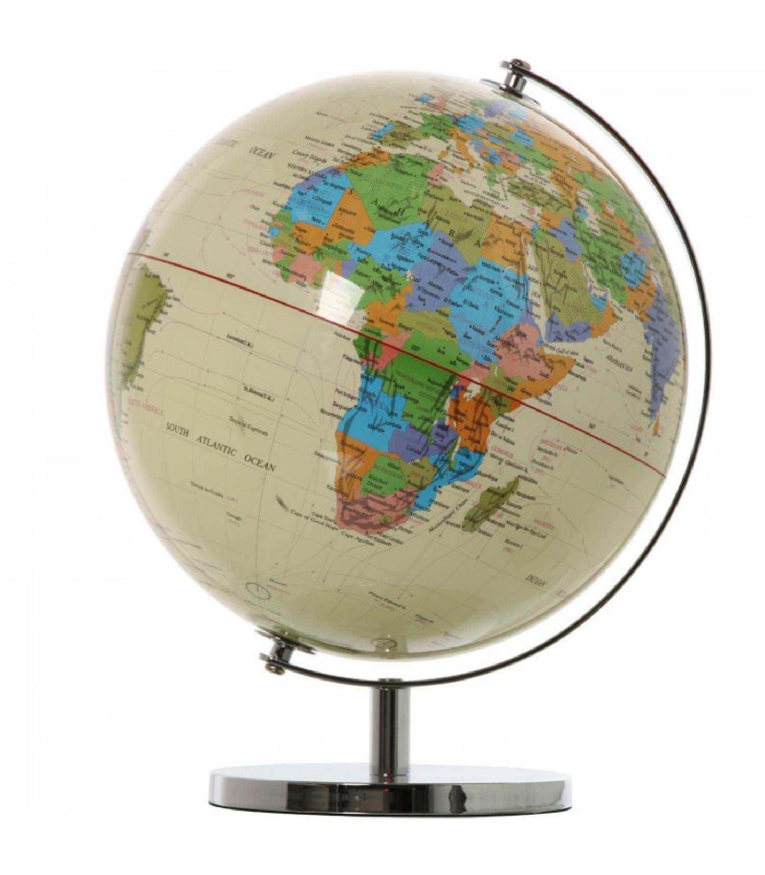Globe terrestre multicolore D25cm