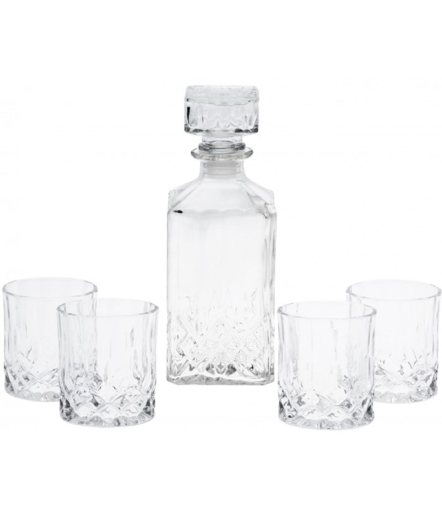 Carafe à whisky 900ml et 4 verres