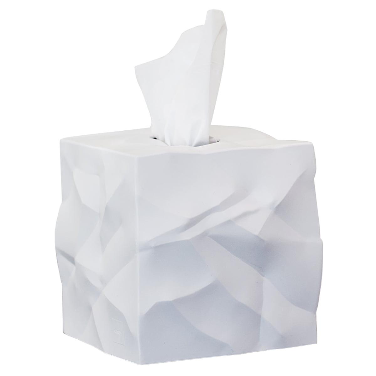Boîte mouchoirs design blanche