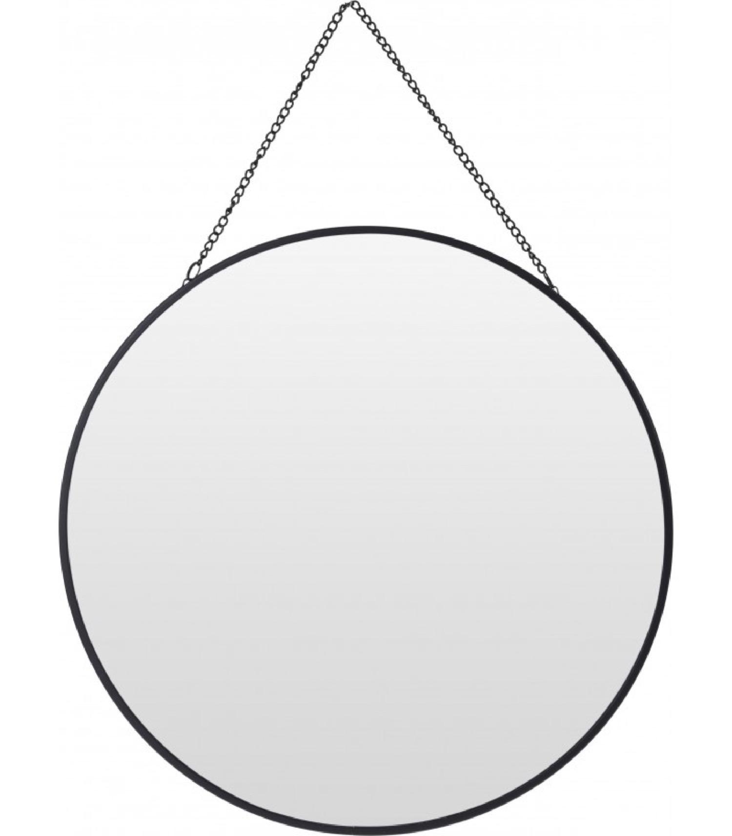 Miroir noir suspendu avec chaînette D29