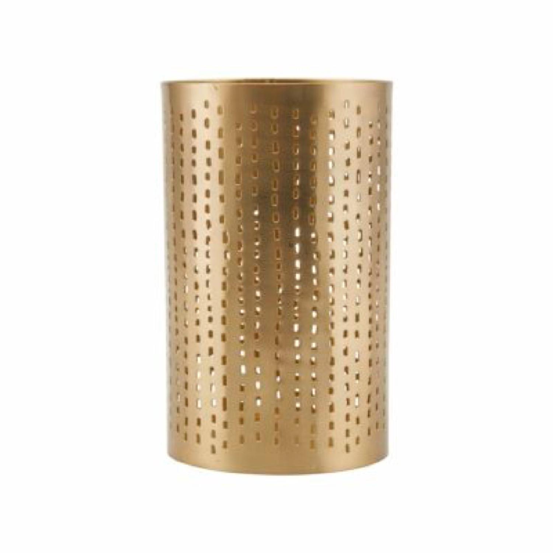 Photophore doré en métal H16cm