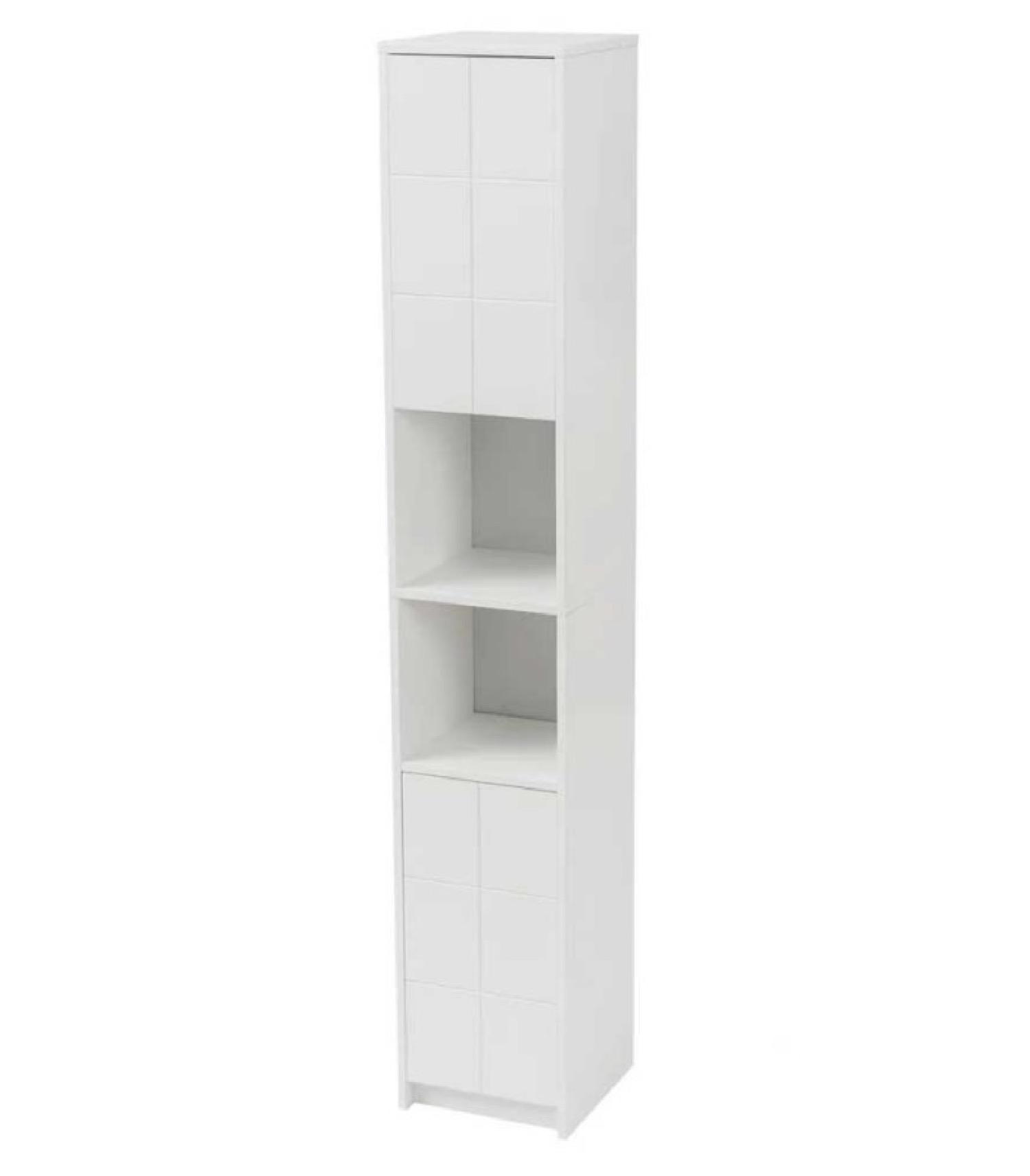 Étagère de salle de bain en bois blanc 30x30cm H172cm
