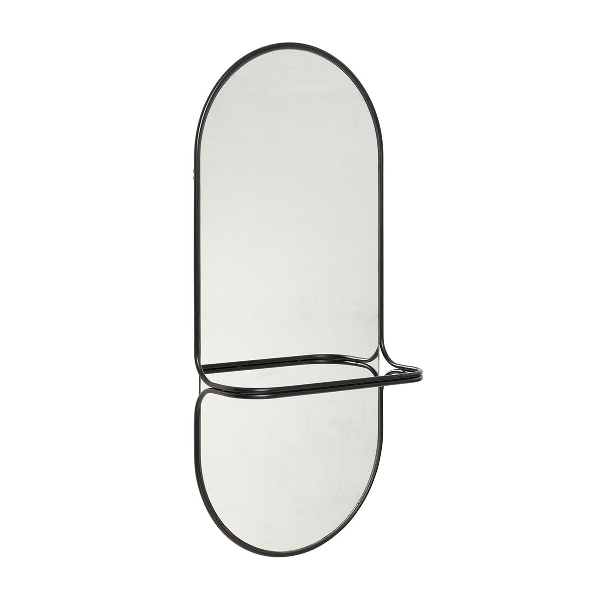 Miroir en métal noir H102