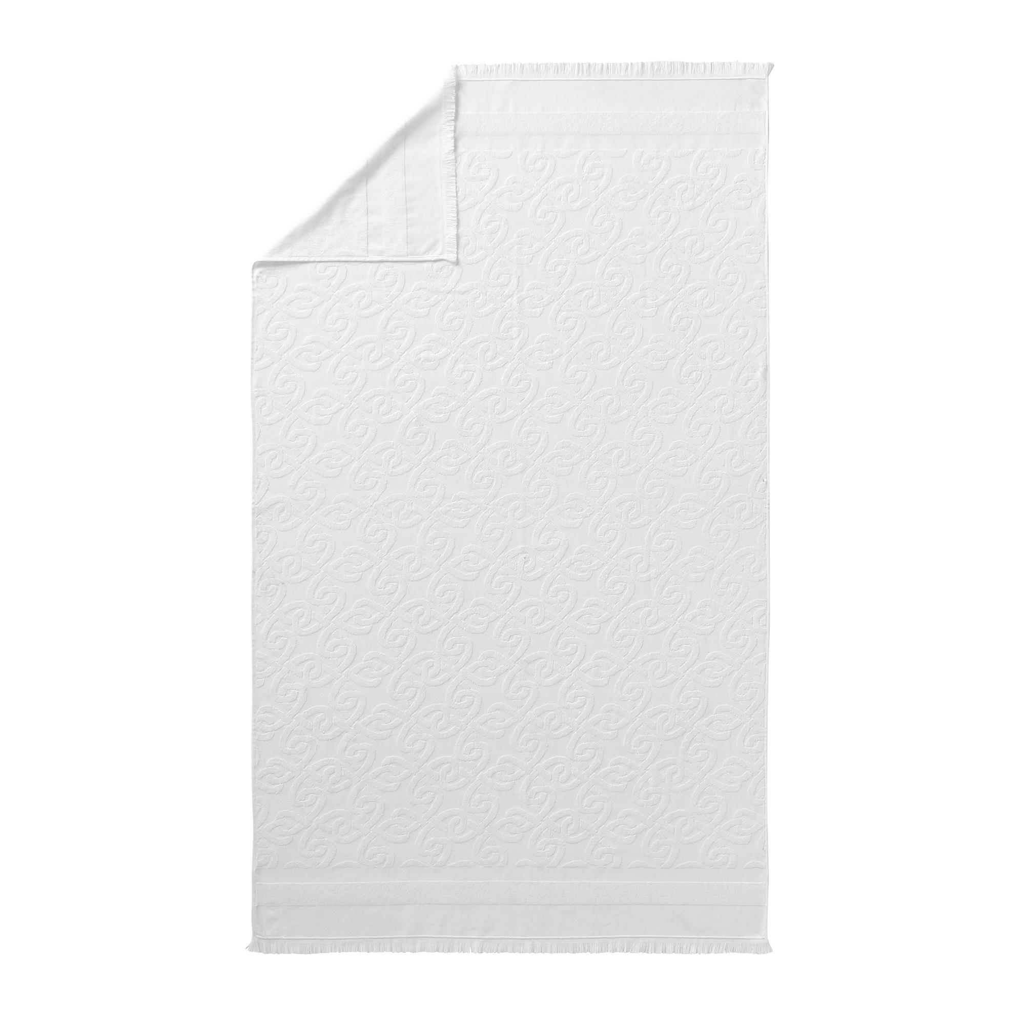 Drap de plage en coton blanc 100x180