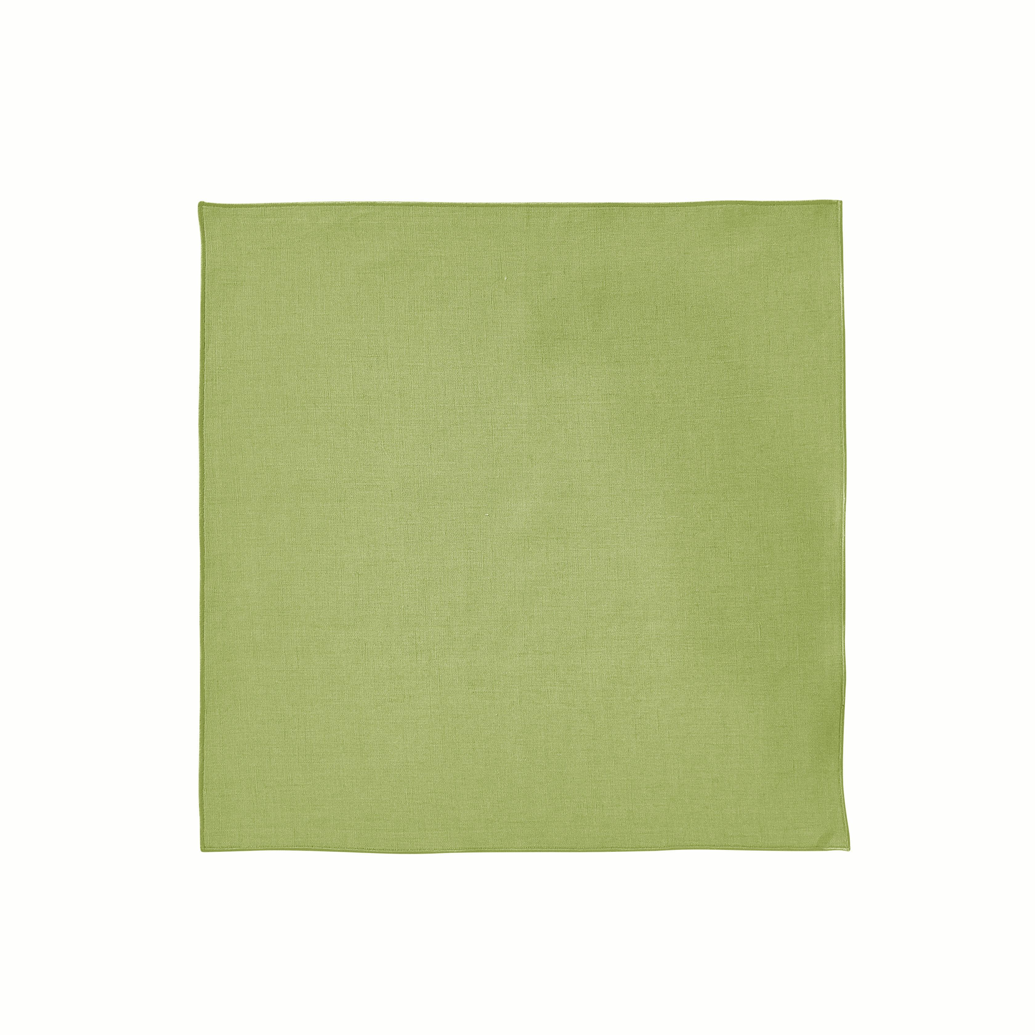Serviette de table en lin vert basilic 35x35